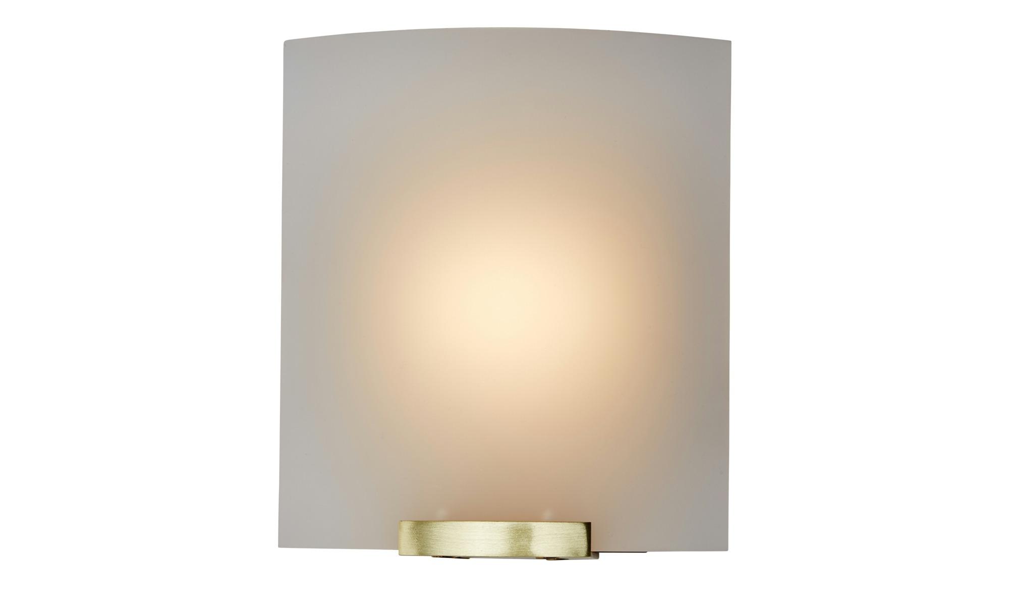 LED- Wandleuchte, 1-flammig, messing matt ¦ gold ¦ Maße (cm): B: 13 H: 15 Lampen & Leuchten > Innenleuchten > Wandleuchten - Höffner