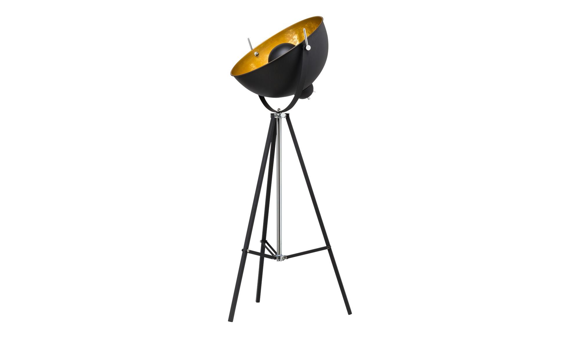 HOME STORY Stehleuchte im Studiolampen-Design, schwarz ¦ schwarz ¦ Maße (cm): B: 60 H: 166 Lampen & Leuchten > Innenleuchten > Stehlampen - Höffner