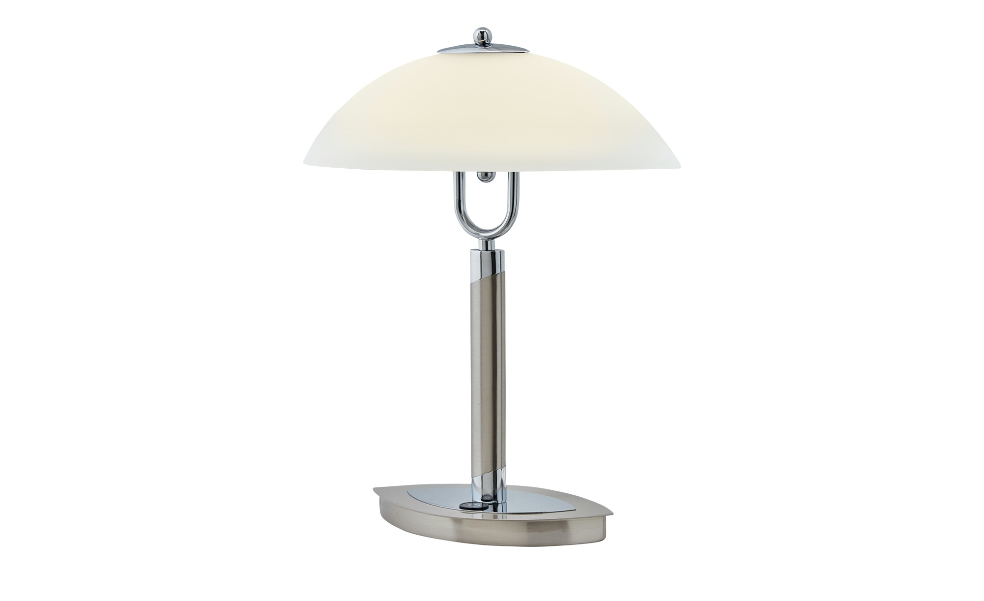 KHG LED- Tischleuchte, Schiffchenglas ¦ silber ¦ Maße (cm): B: 11,5 H: 38 Lampen & Leuchten > Innenleuchten > Tischlampen - Höffner