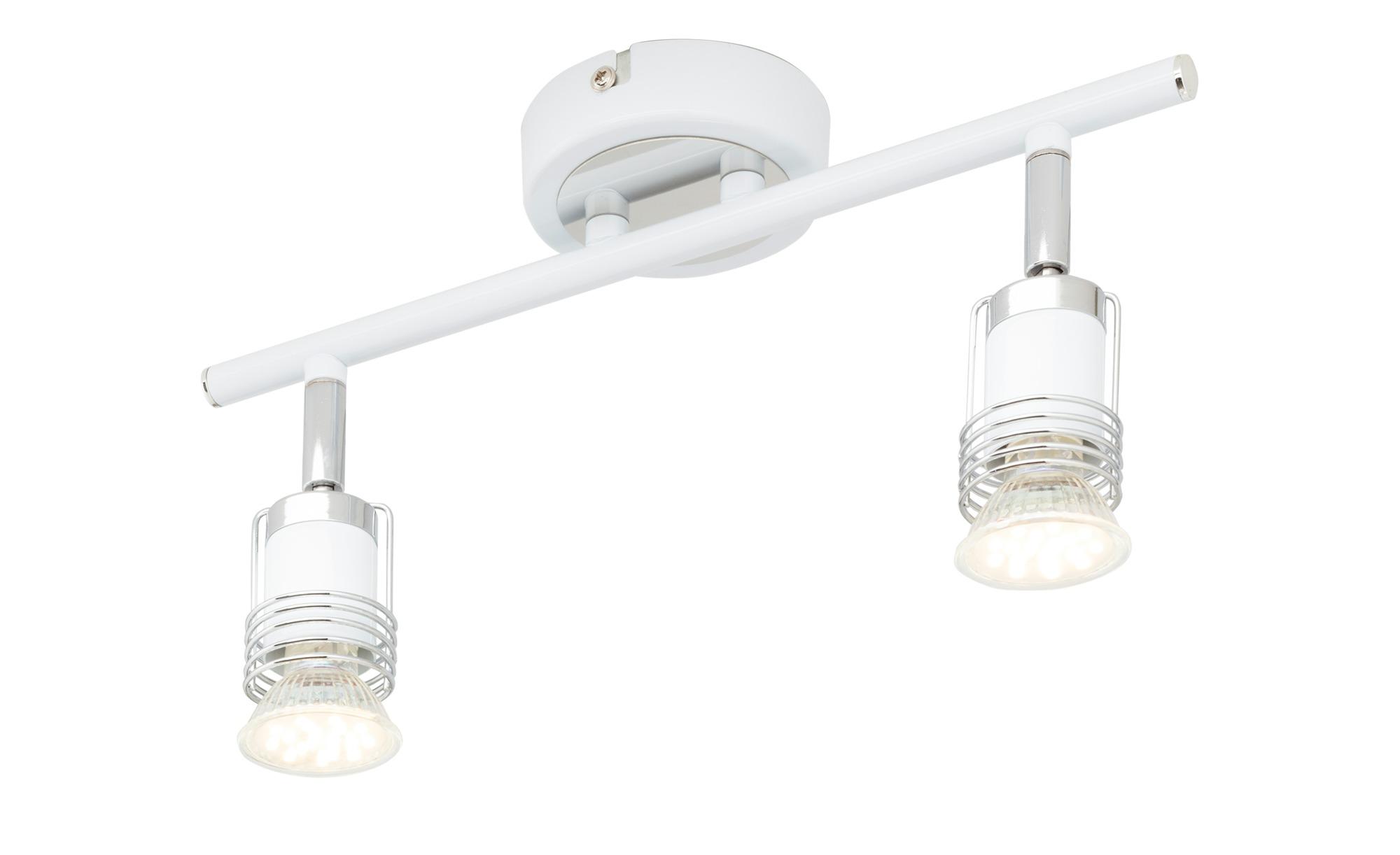 KHG LED-Deckenstrahler weiß mit 2 Spots ¦ weiß ¦ Maße (cm): B: 18 H: 17,4 Lampen & Leuchten > LED-Leuchten > LED-Strahler & Spots - Höffner