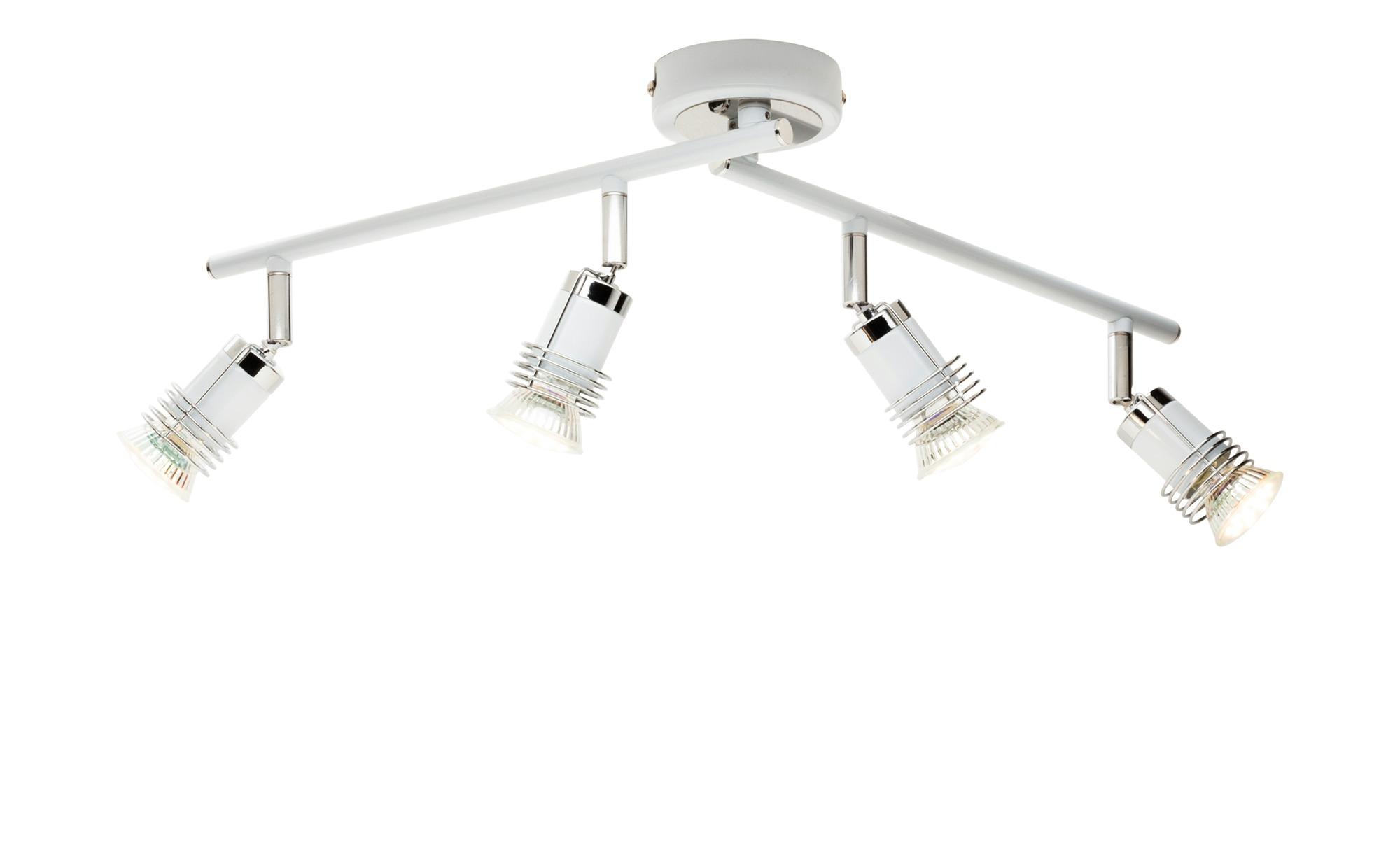 KHG LED-Deckenstrahler mit beweglichen Armen ¦ weiß ¦ Maße (cm): B: 18 H: 17,4 Lampen & Leuchten > LED-Leuchten > LED-Strahler & Spots - Höffner