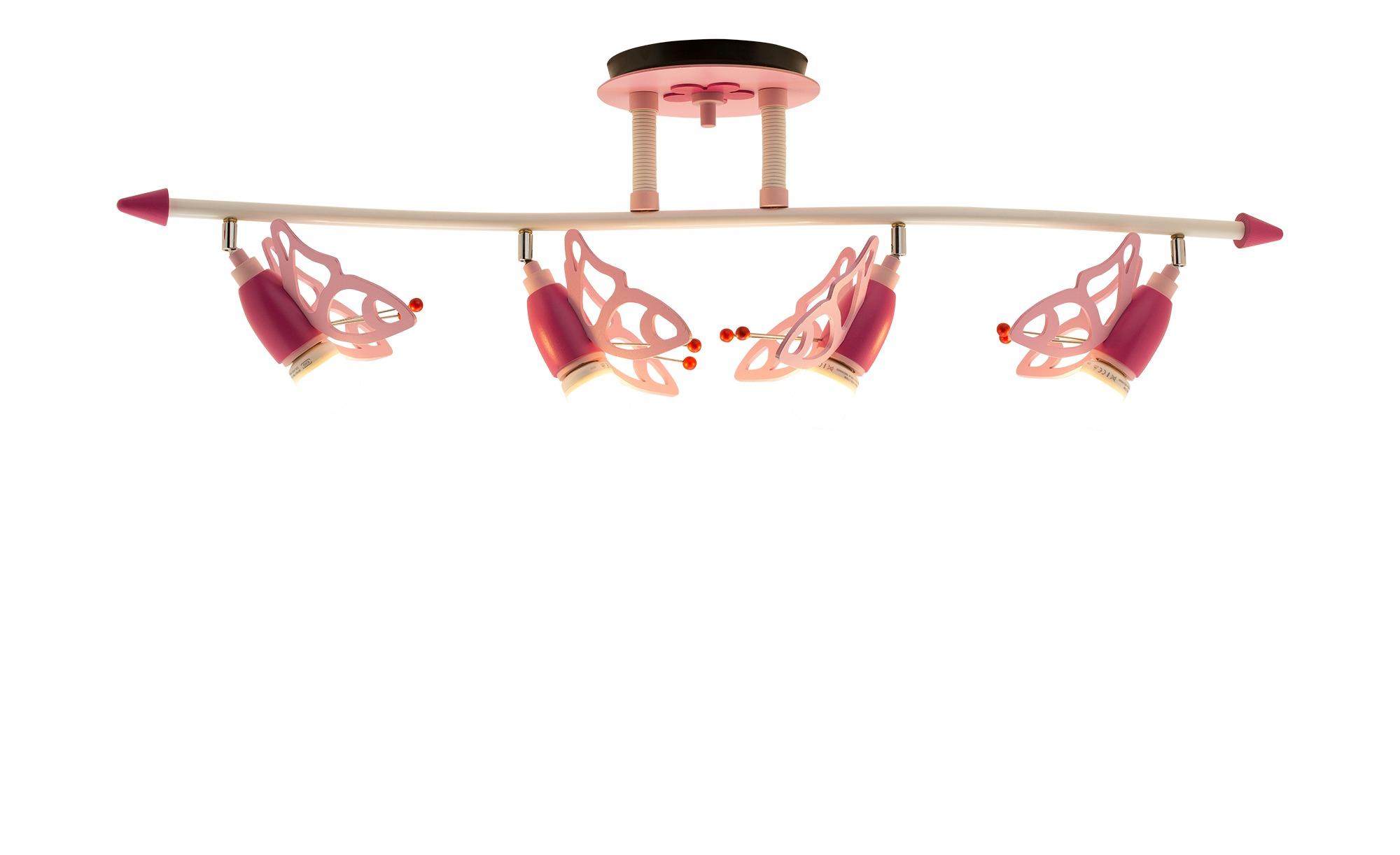 Deckenstrahler Schmetterlinge Holz rosa ¦ rosa/pink ¦ Maße (cm): B: 100 H: 25 T: 25 Lampen & Leuchten > Innenleuchten > Deckenleuchten - Höffner