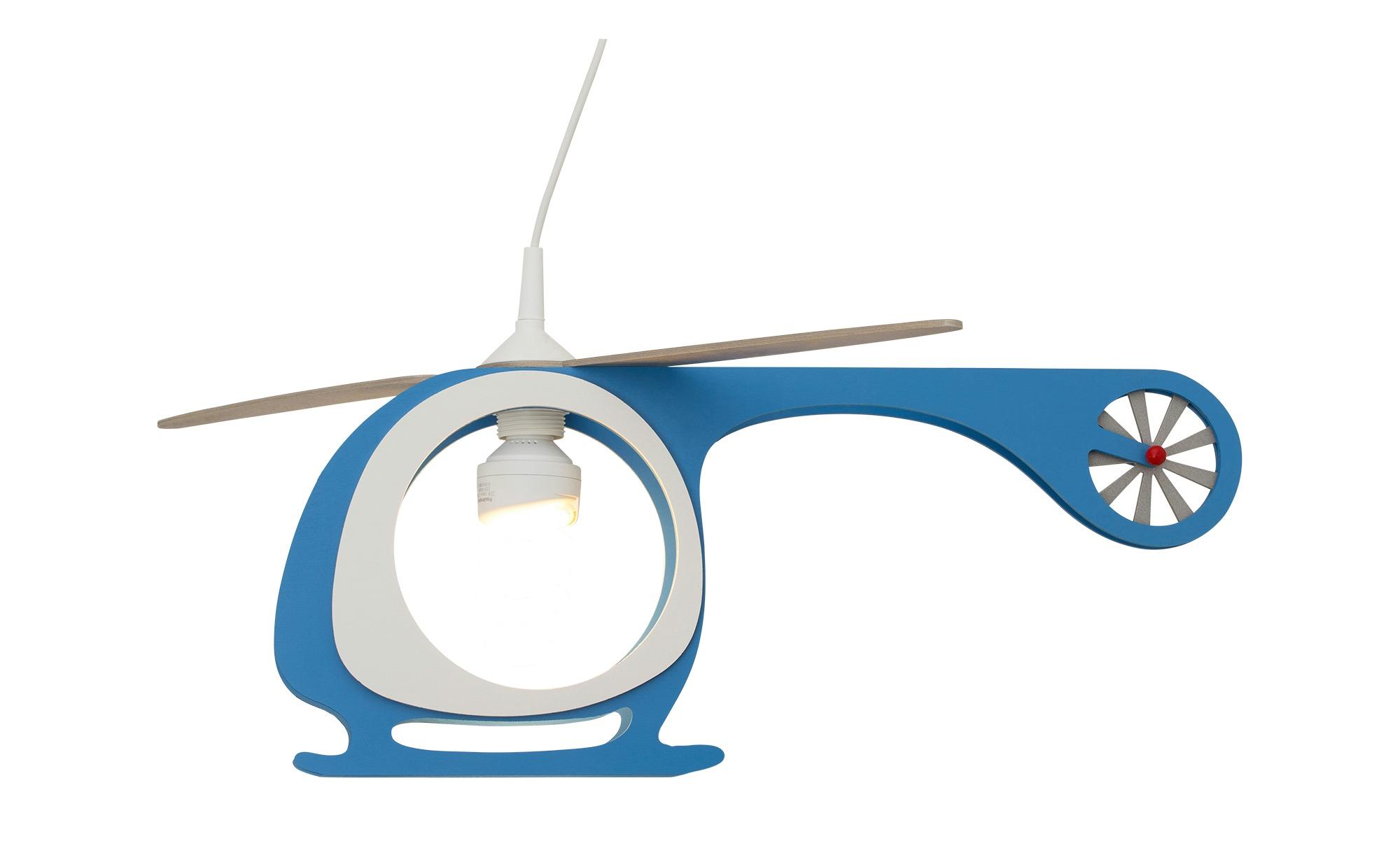 Pendelleuchte Hubschrauber Holz blau, weiß ¦ mehrfarbig ¦ Maße (cm): B: 60 H: 25 Lampen & Leuchten > Innenleuchten > Kinderlampen - Höffner