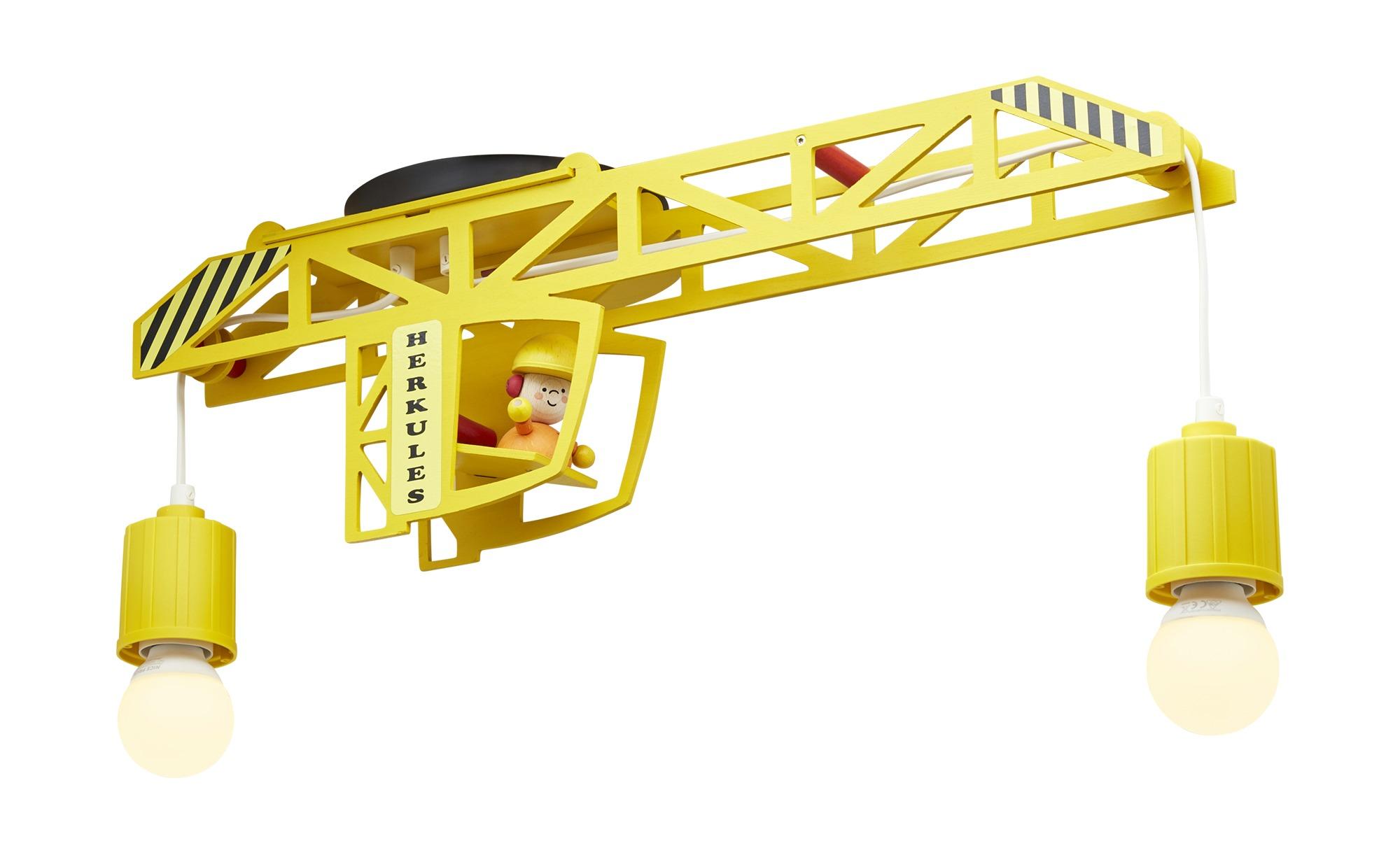Deckenleuchte Turmdrehkran, gelb ¦ gelb ¦ Maße (cm): B: 60 H: 50 T: 22 Lampen & Leuchten > Innenleuchten > Kinderlampen - Höffner