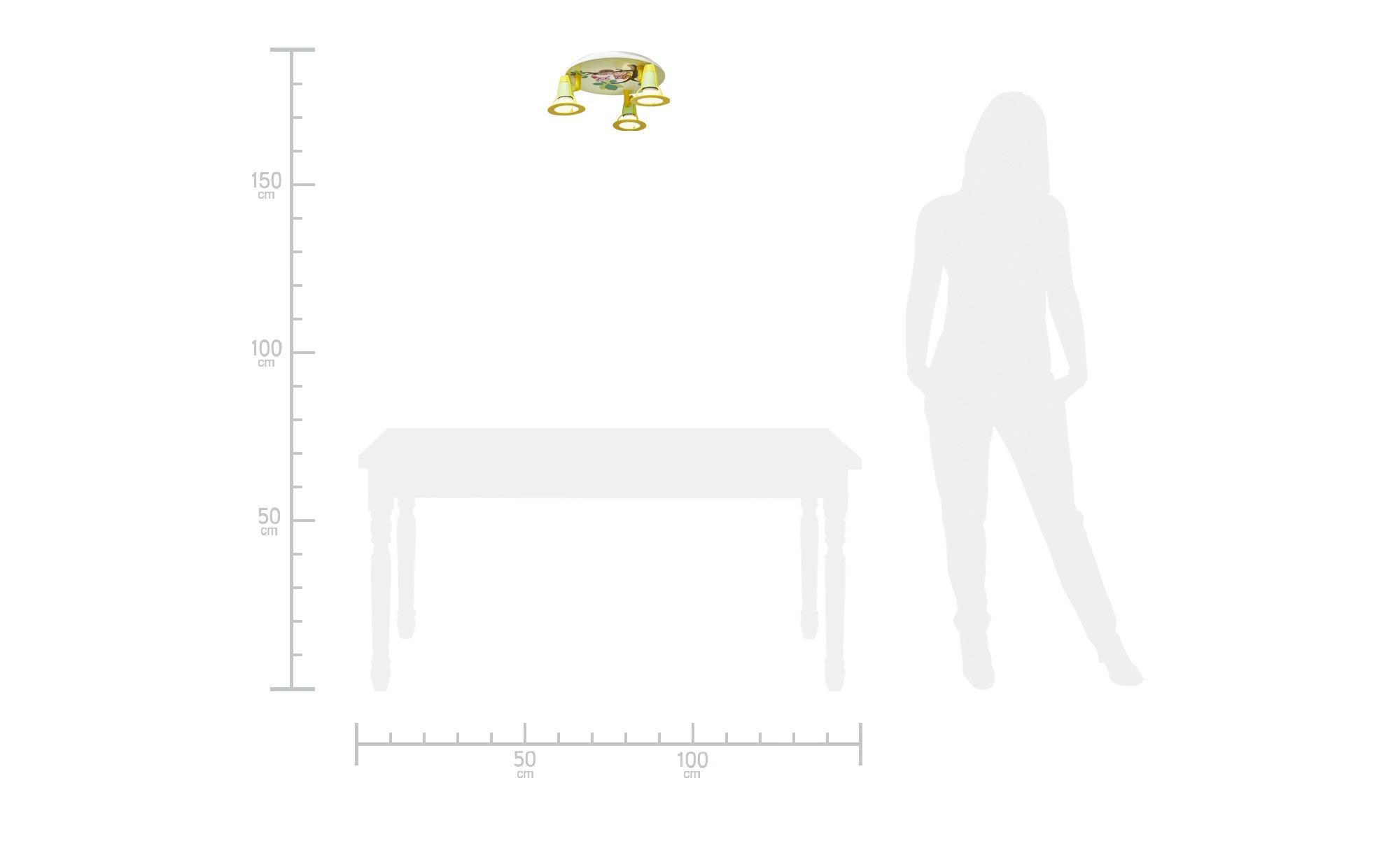 Deckenleuchte Eulenfamilie ¦ grün ¦ Maße (cm): B: 30 T: 20 Lampen & Leuchten > Innenleuchten > Deckenleuchten - Höffner