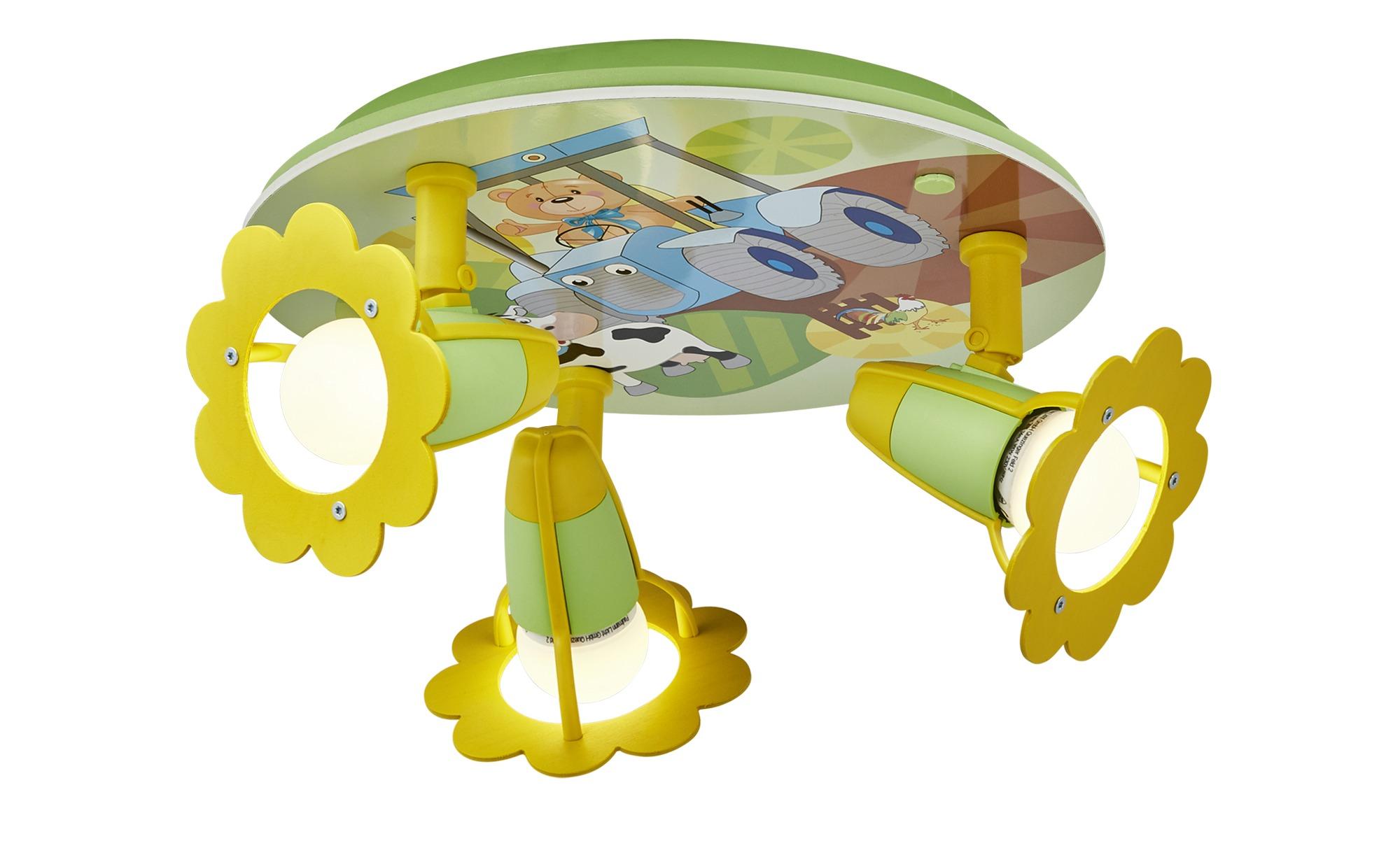 Deckenleuchte Traktor mit Teddy ¦ grün ¦ Maße (cm): B: 30 T: 20 Lampen & Leuchten > Innenleuchten > Kinderlampen - Höffner