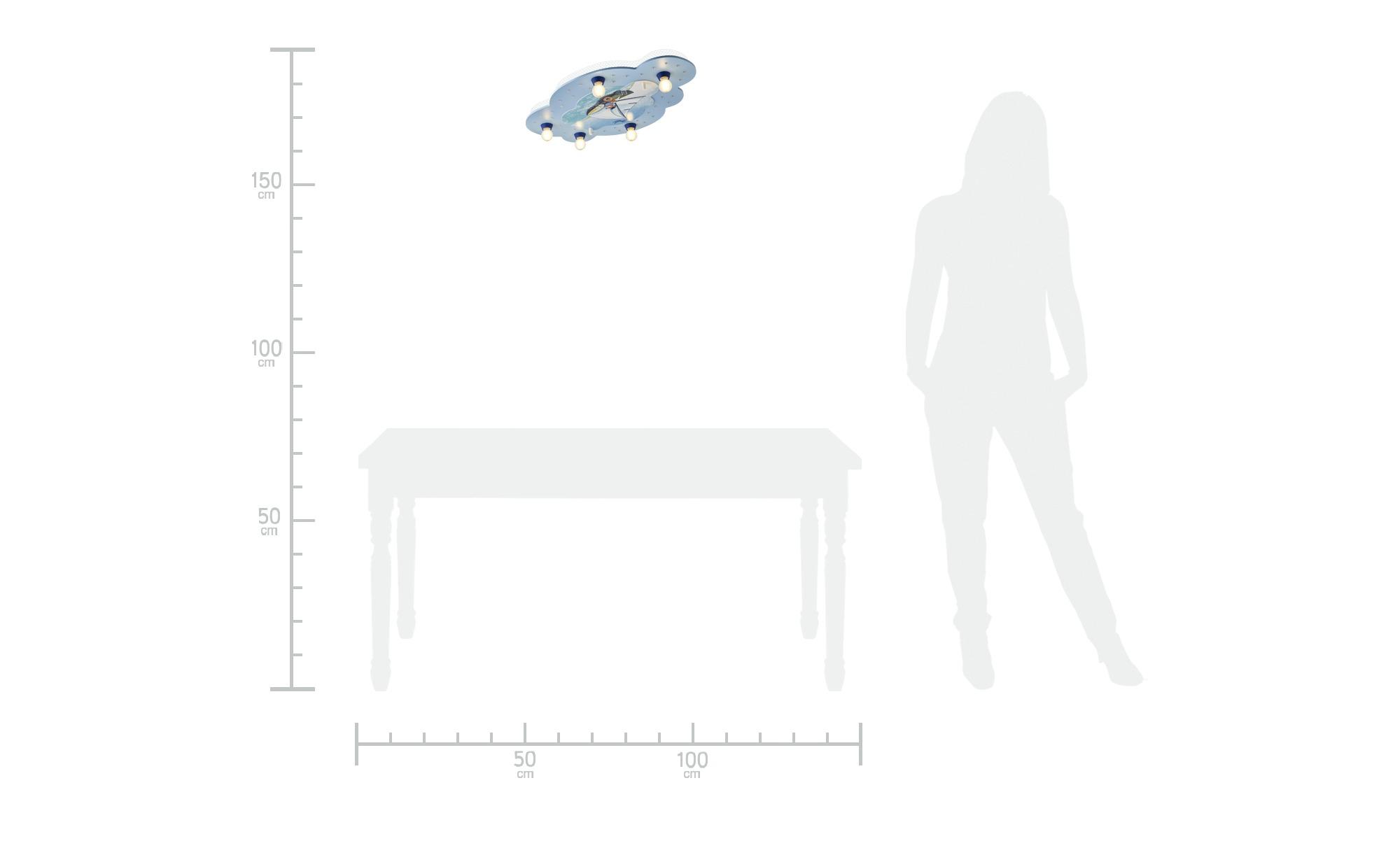 Deckenleuchte Segelfuchs ¦ blau ¦ Maße (cm): B: 50 Lampen & Leuchten > Innenleuchten > Kinderlampen - Höffner
