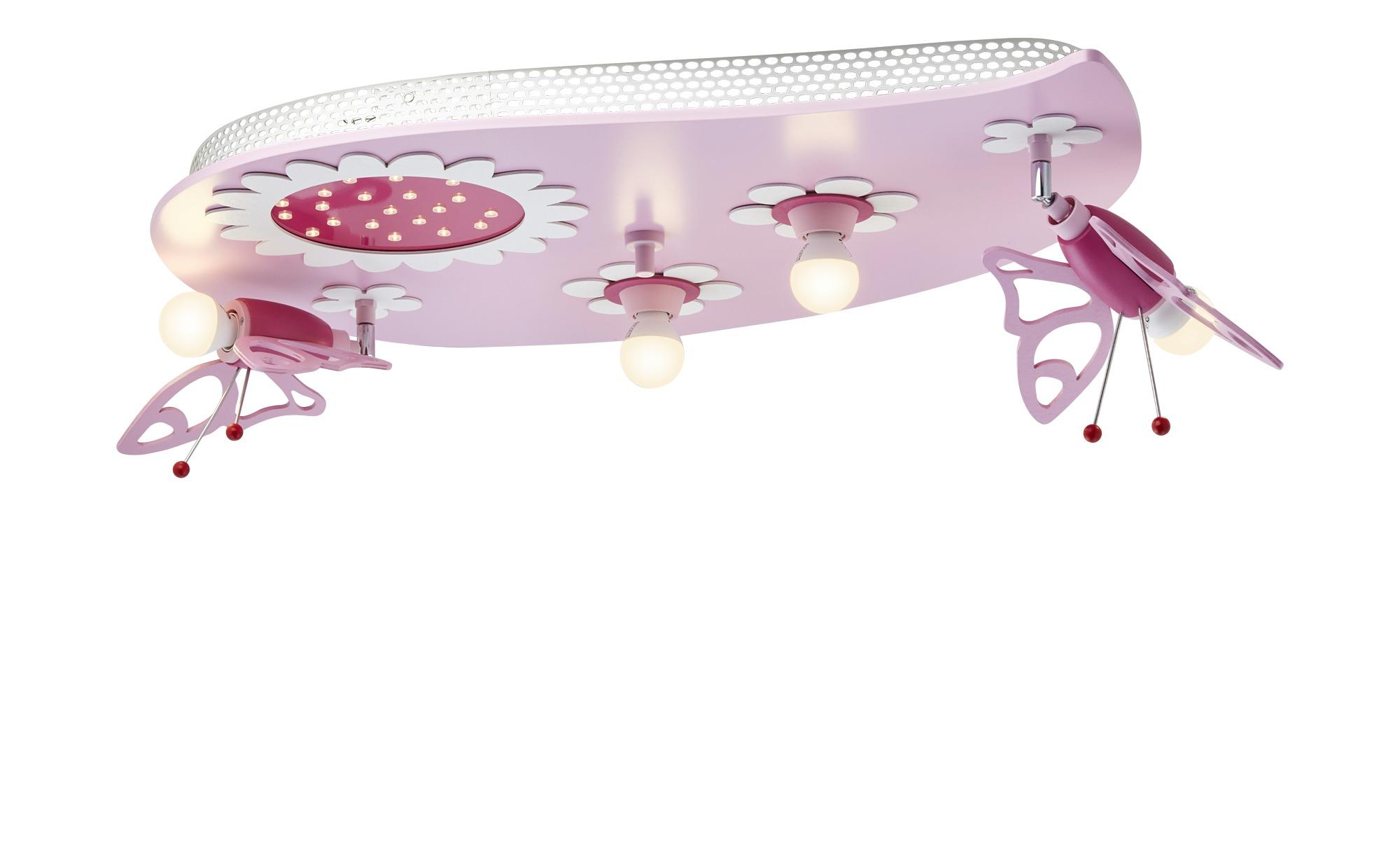 Deckenleuchte, 4+1 flammig rosa ¦ rosa/pink ¦ Maße (cm): B: 50 H: 20 Lampen & Leuchten > Innenleuchten > Kinderlampen - Höffner