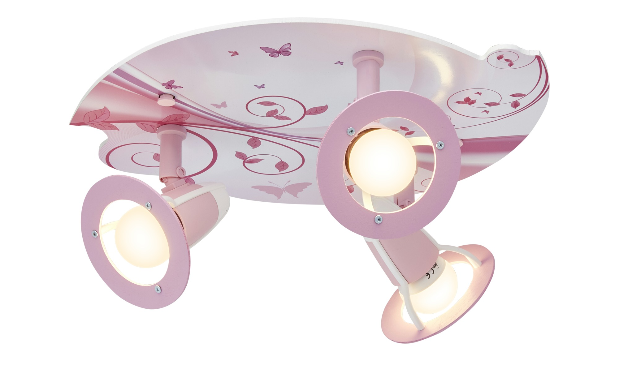 Deckenleuchte, 3-flammig, rosa ¦ rosa/pink ¦ Maße (cm): H: 20 Ø: [30.0] Lampen & Leuchten > Innenleuchten > Kinderlampen - Höffner