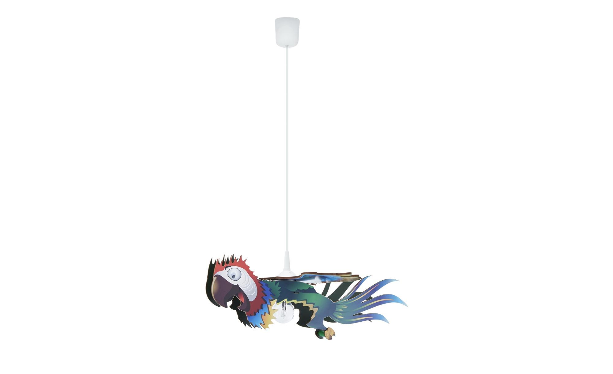Pendelleuchte, 1-flammig, Papagei ¦ mehrfarbig ¦ Maße (cm): B: 12 H: 12 Lampen & Leuchten > Innenleuchten > Kinderlampen - Höffner