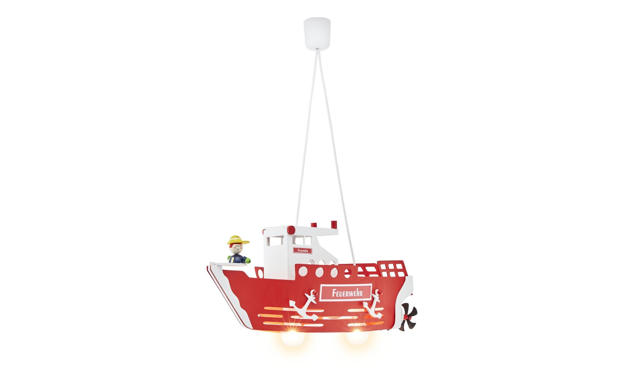 Pendelleuchte, 2-flammig `Feuerwehrschiff` ¦ rot ¦ Maße (cm): B: 20 H: 25 Lampen & Leuchten > Innenleuchten > Kinderlampen - Höffner