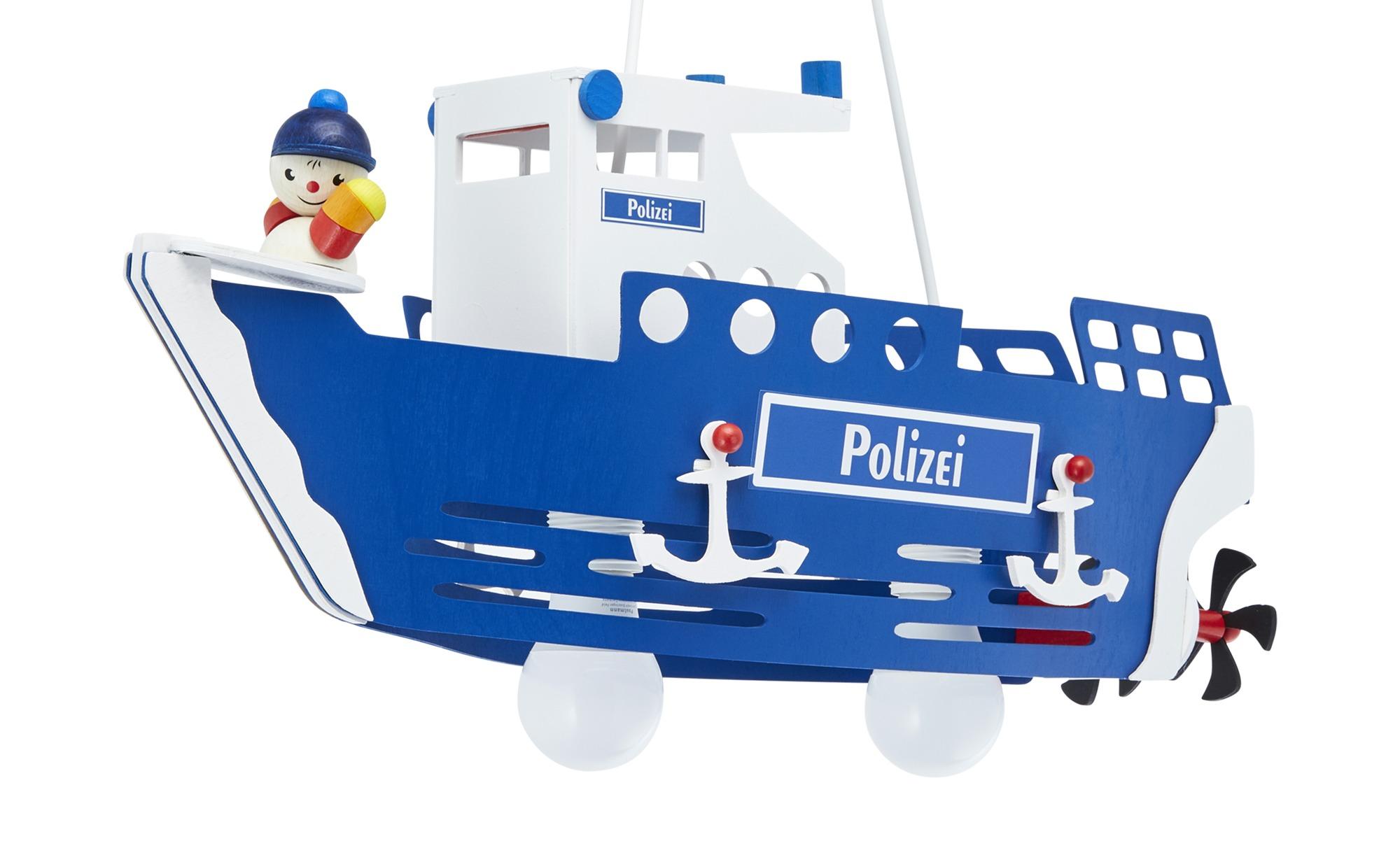 Pendelleuchte, 2-flammig, `Polizeischiff` ¦ mehrfarbig ¦ Maße (cm): B: 20 H: 25 Lampen & Leuchten > Innenleuchten > Kinderlampen - Höffner
