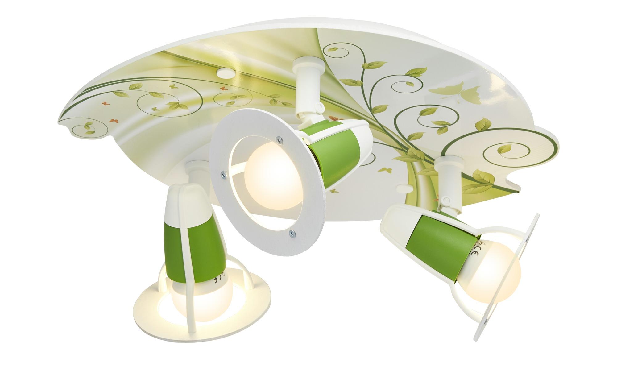 Deckenleuchte, 3-flammig, grün ¦ grün ¦ Maße (cm): H: 20 Ø: 30 Lampen & Leuchten > Innenleuchten > Deckenleuchten - Höffner