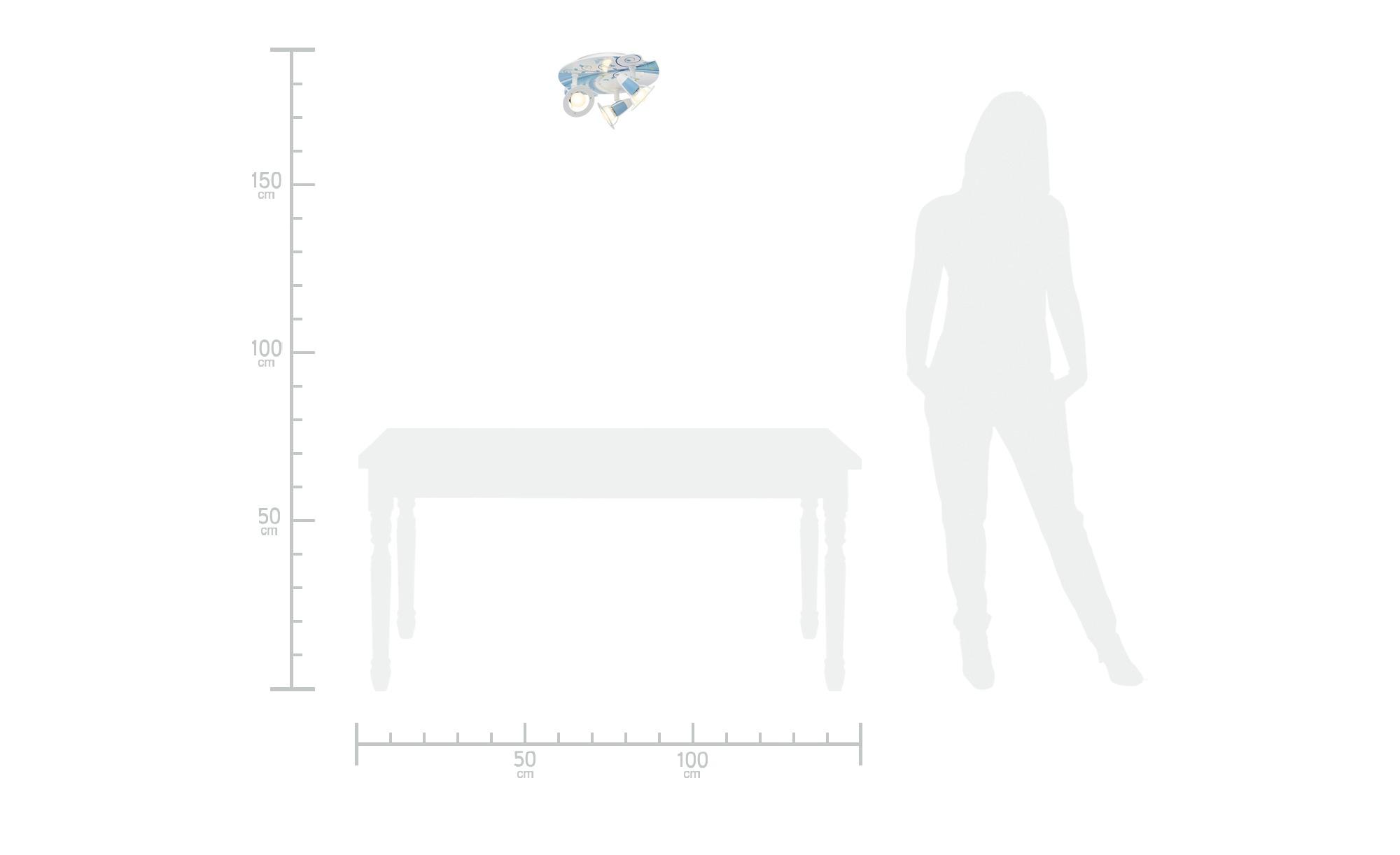 Deckenleuchte, 3-flammig, türkis ¦ Maße (cm): H: 20 Ø: 30 Lampen & Leuchten > Innenleuchten > Deckenleuchten - Höffner