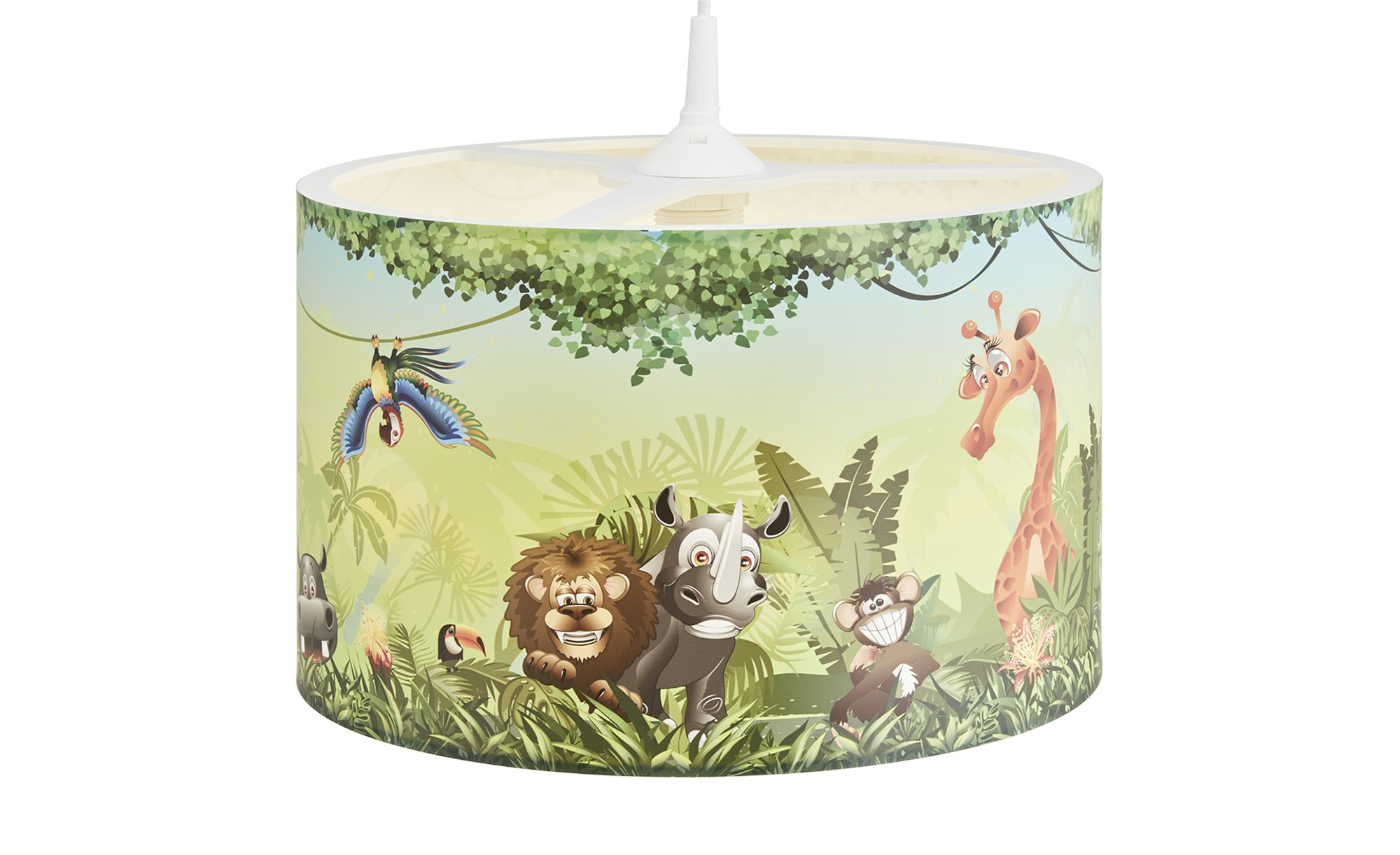 Pendelleuchte, Wildnis ¦ grün ¦ Maße (cm): H: 25 Ø: 40 Lampen & Leuchten > Innenleuchten > Kinderlampen - Höffner