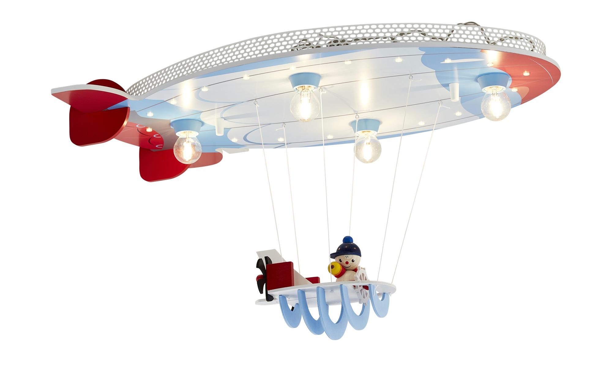 Deckenleuchte, 4-flammig, Luftschiff ¦ blau ¦ Maße (cm): B: 50 T: 20 Lampen & Leuchten > Innenleuchten > Kinderlampen - Höffner
