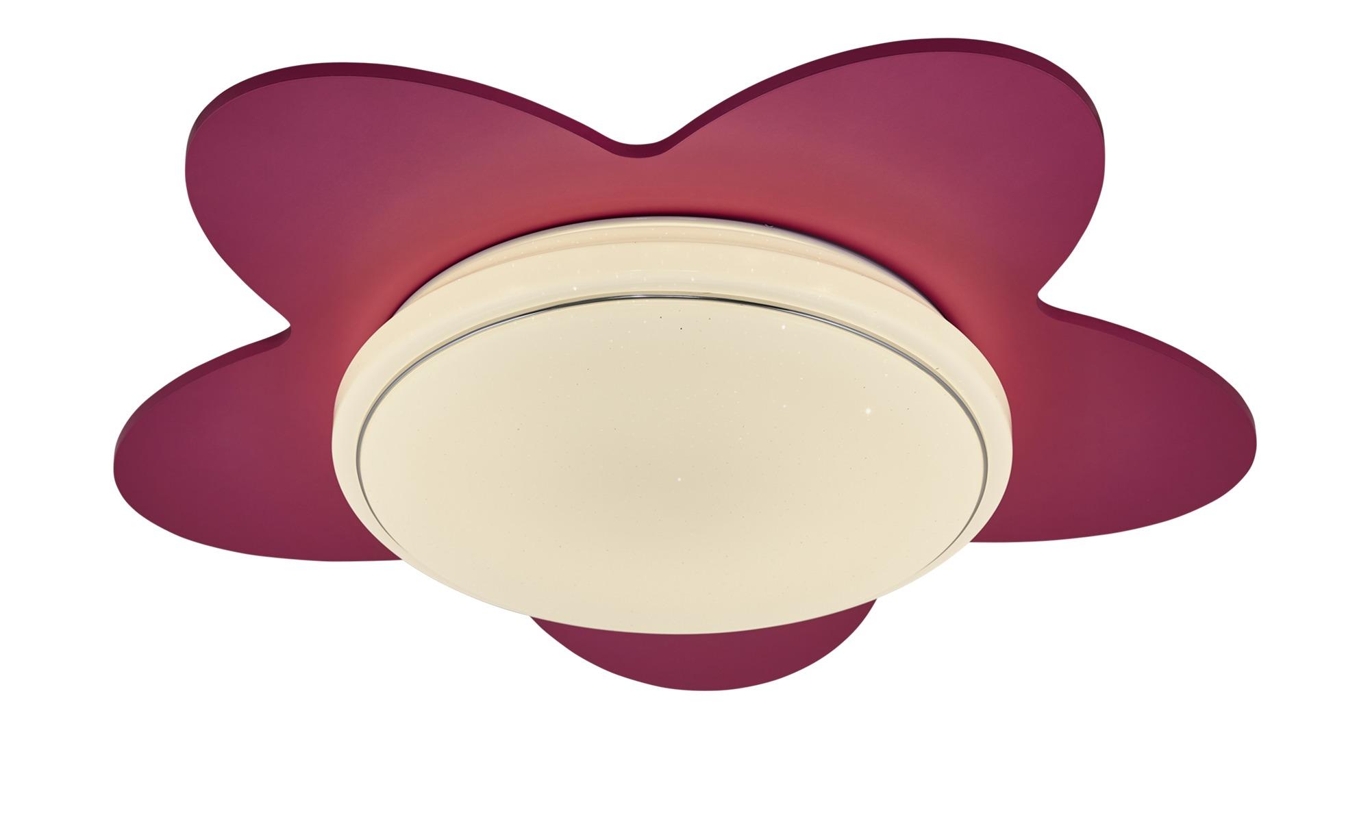 LED-Deckenleuchte `Blume´ ¦ rosa/pink ¦ Maße (cm): B: 50 T: 20 Lampen & Leuchten > Innenleuchten > Kinderlampen - Höffner
