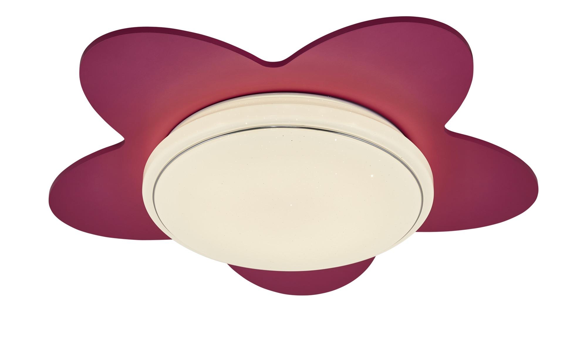 LED-Deckenleuchte `Blume´ ¦ rosa/pink ¦ Maße (cm): B: 50 T: 20 Lampen & Leuchten > Innenleuchten > Deckenleuchten - Höffner