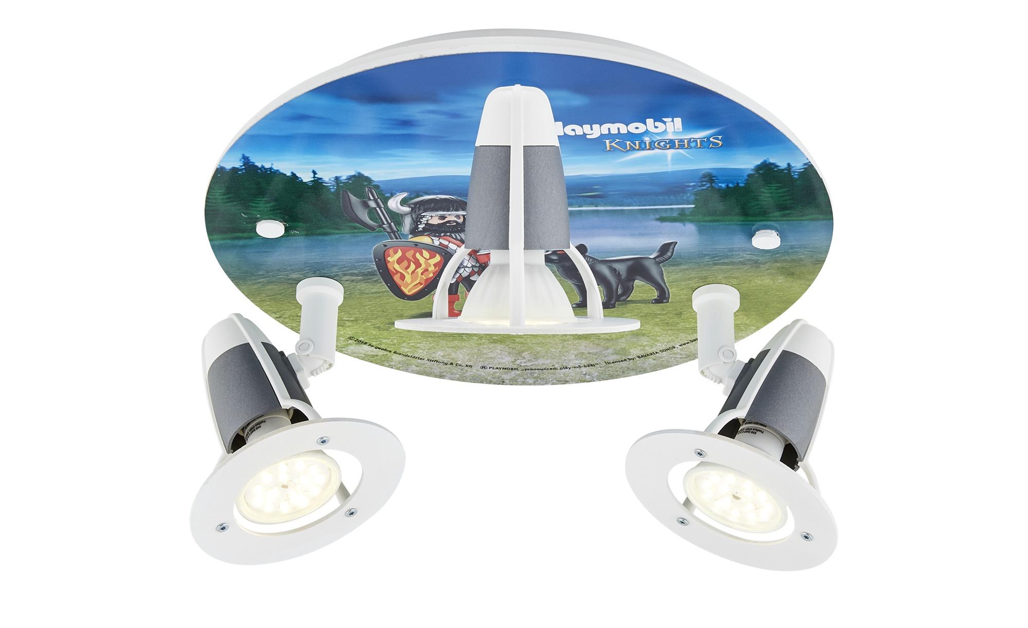 Playmobil Deckenleuchte, 3-flammig, Playmobil Knights´ ¦ blau ¦ Maße (cm): H: 20 Ø: 30 Lampen & Leuchten > Innenleuchten > Deckenleuchten - Höffner