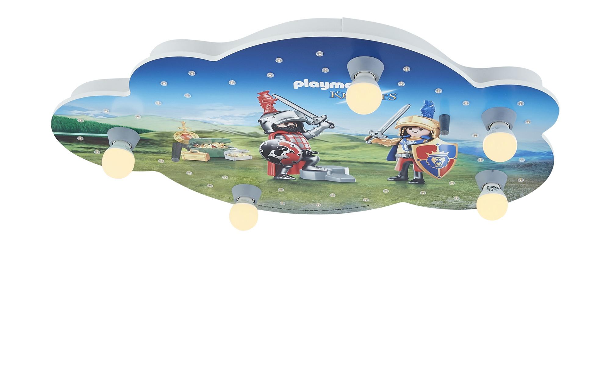 Playmobil Deckenleuchte, 5+40 flammig, Playmobil ´Knights´ ¦ blau ¦ Maße (cm): B: 50 H: 8 Lampen & Leuchten > Innenleuchten > Kinderlampen - Höffner