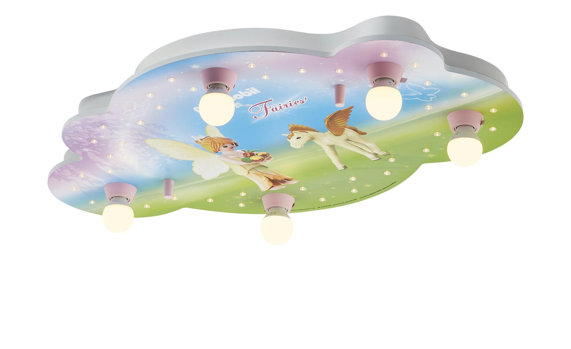Playmobil Deckenleuchte, 5-flammig, Playmobil ´Fairies´ ¦ rosa/pink ¦ Maße (cm): B: 50 H: 8 Lampen & Leuchten > Innenleuchten > Deckenleuchten - Höffner
