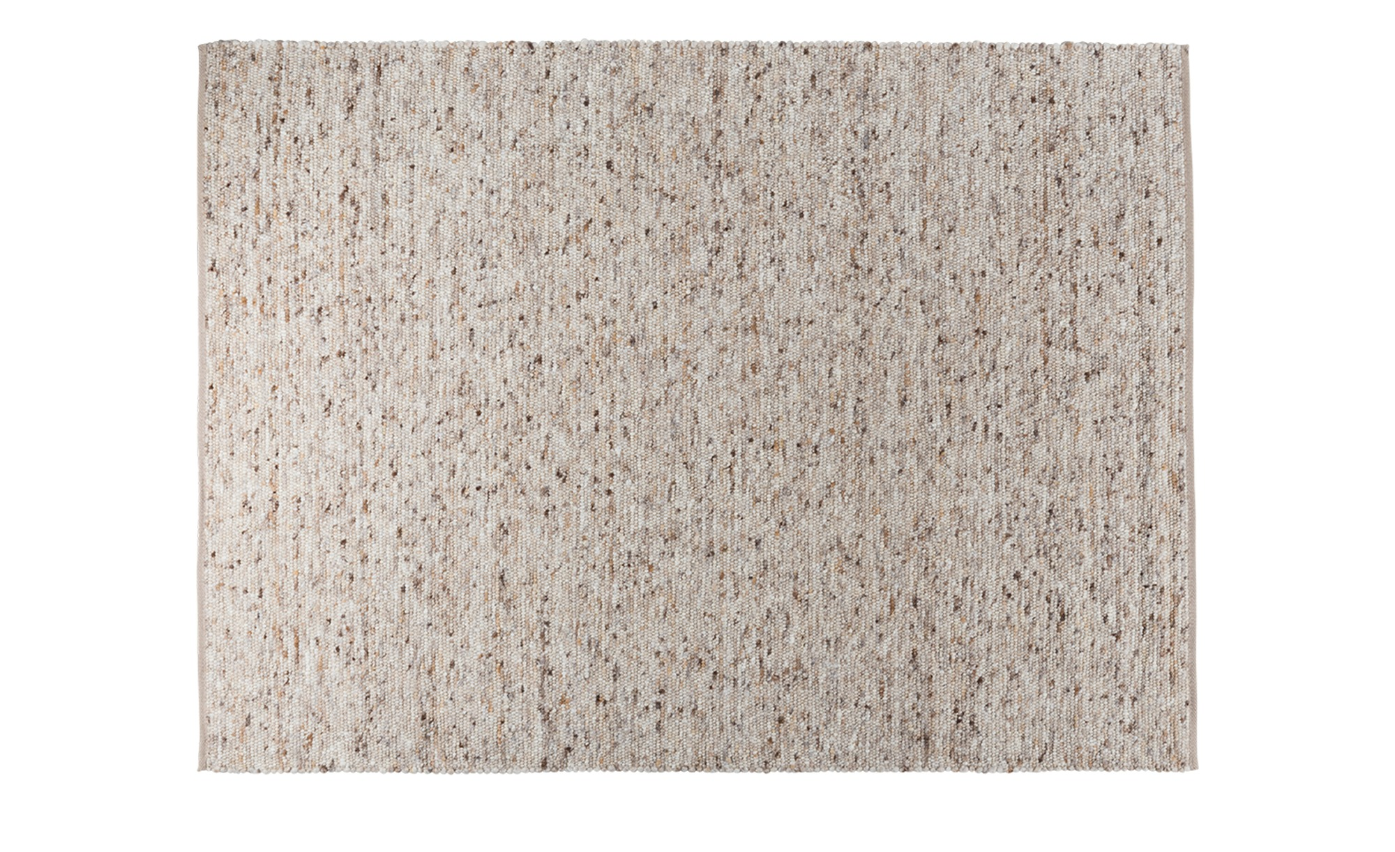 Handwebteppich  Bavaria ¦ beige ¦ 50 % Schurwolle, 50 % Jute, Nutzschicht 100 % Schurwolle ¦ Maße (cm): B: 60 Teppiche > Wohnteppiche - Höffner