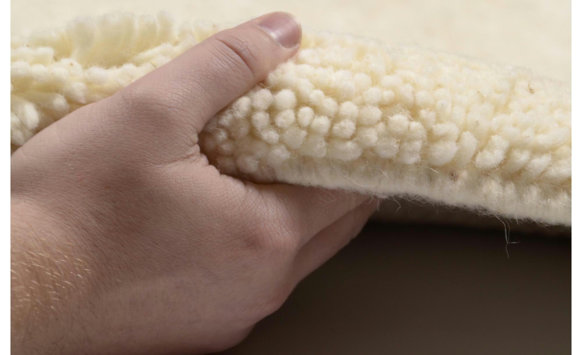 Berber-Teppich  Rabat ¦ creme ¦ reine Wolle ¦ Maße (cm): B: 70 Teppiche > Auslegware - Höffner | Heimtextilien > Teppiche > Berberteppiche | Creme | Wolle | Möbel Höffner DE