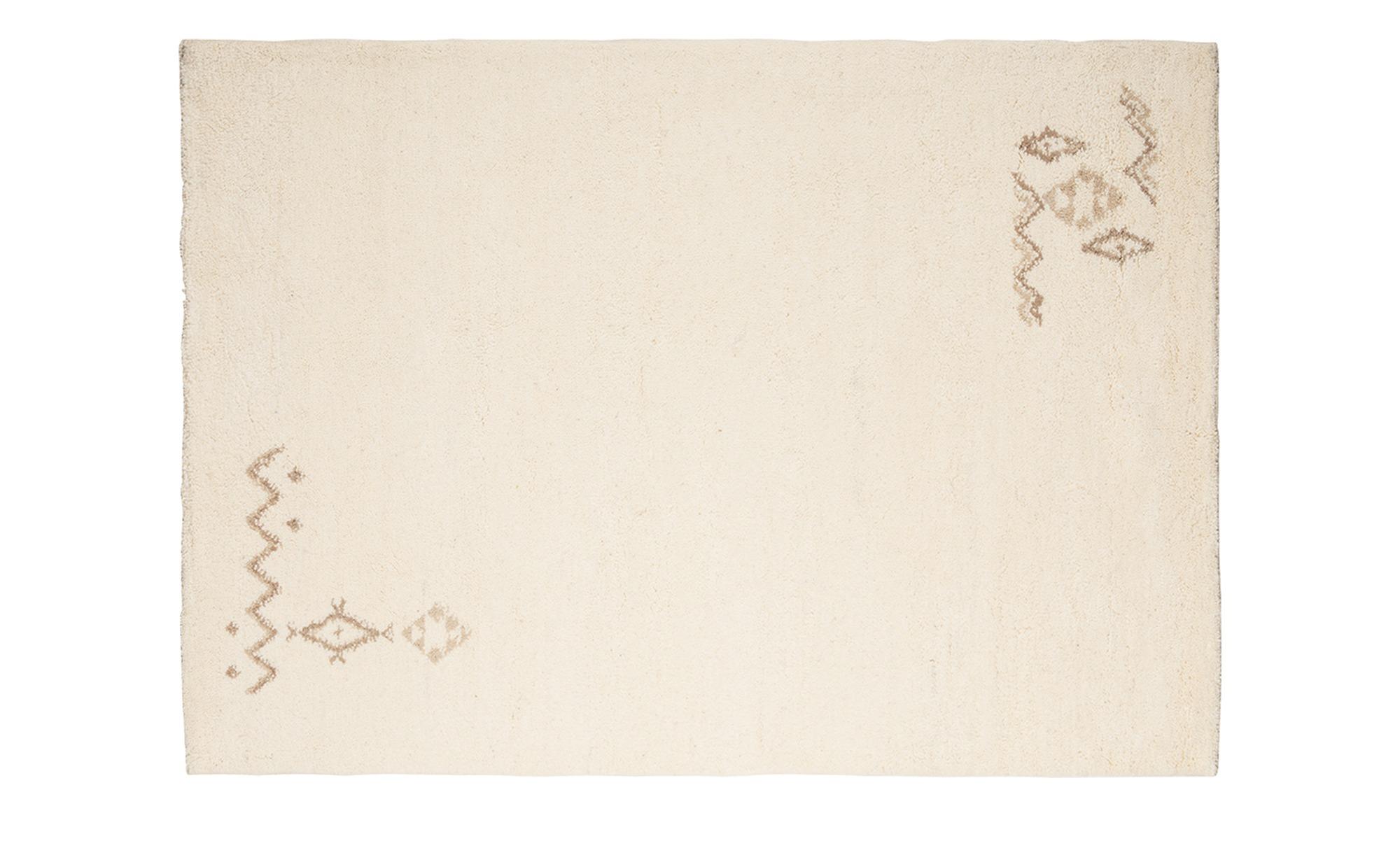 Berber-Teppich  Rabat ¦ creme ¦ reine Wolle ¦ Maße (cm): B: 90 Teppiche > Auslegware - Höffner | Heimtextilien > Teppiche > Berberteppiche | Creme | Wolle | Möbel Höffner DE