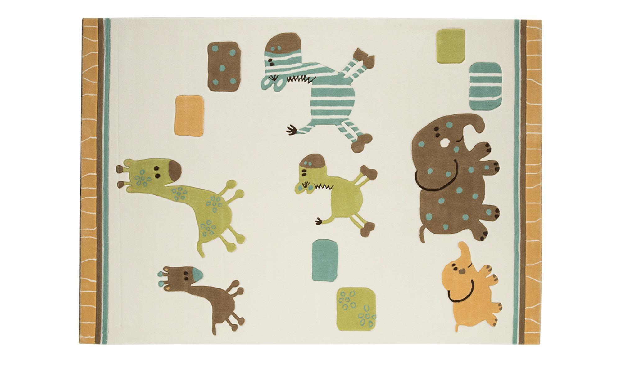 Esprit Handtuft-Teppich  Lucky Zoo ¦ beige ¦ 100 % Acryl ¦ Maße (cm): B: 70 Teppiche > Wohnteppiche - Höffner
