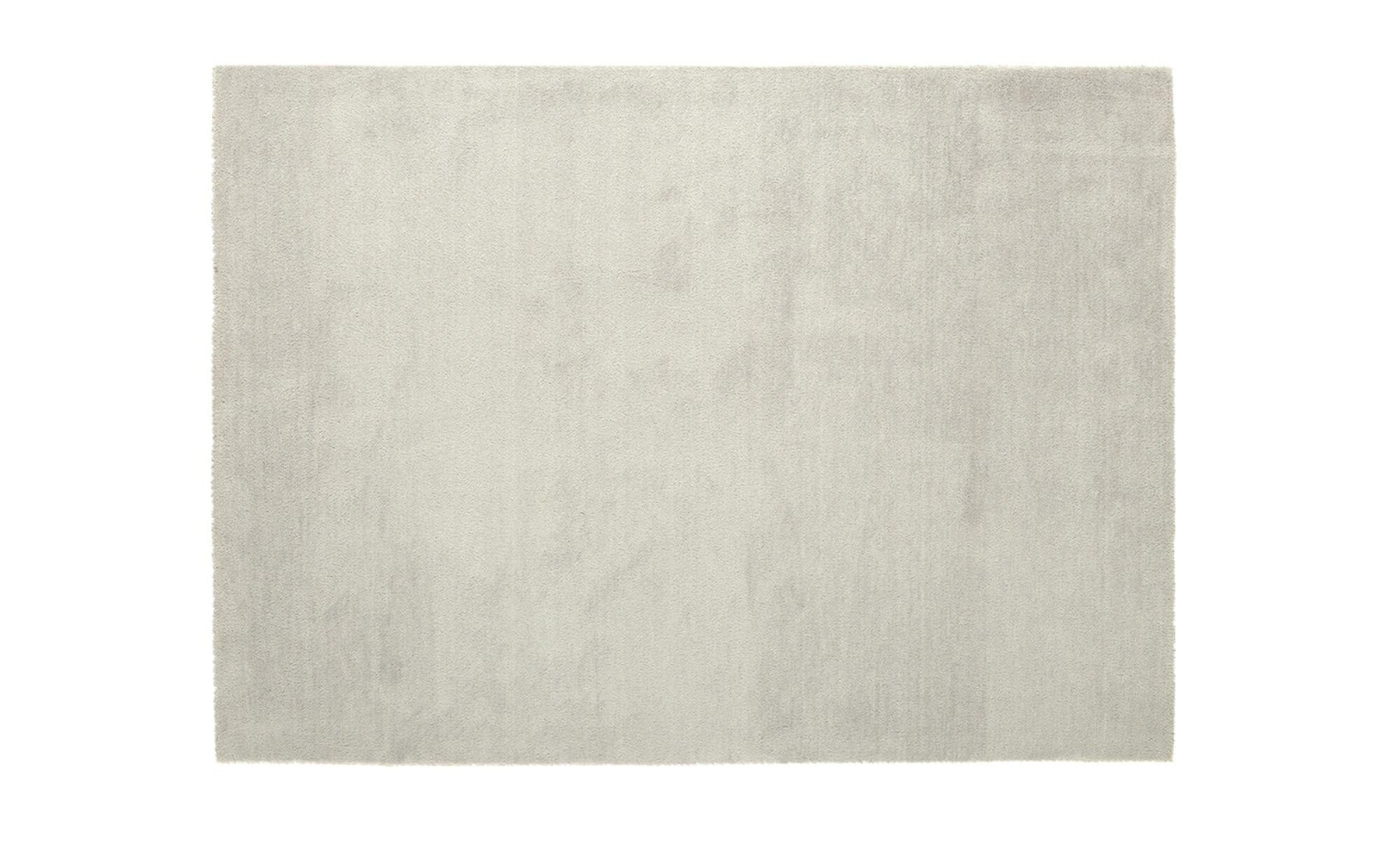 SCHÖNER WOHNEN Handtuft-Teppich  Victoria ¦ silber ¦ 100 % Polyester ¦ Maße (cm): B: 170 Teppiche > Wohnteppiche > Unifarbene Teppiche - Höffner