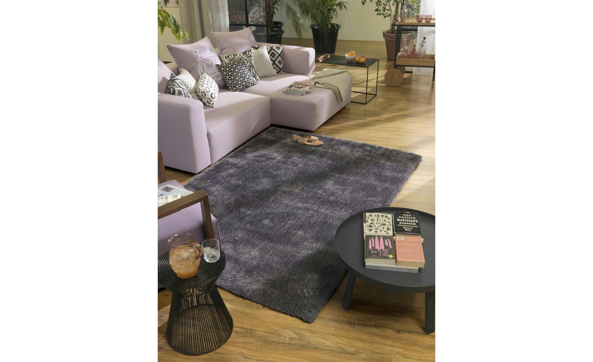 Tom Tailor Handtuft-Teppich  Soft uni ¦ schwarz ¦ 100 % Polypropylen, Synthethische Fasern ¦ Maße (cm): B: 85 Teppiche > Wohnteppiche > Hochflorteppiche - Höffner