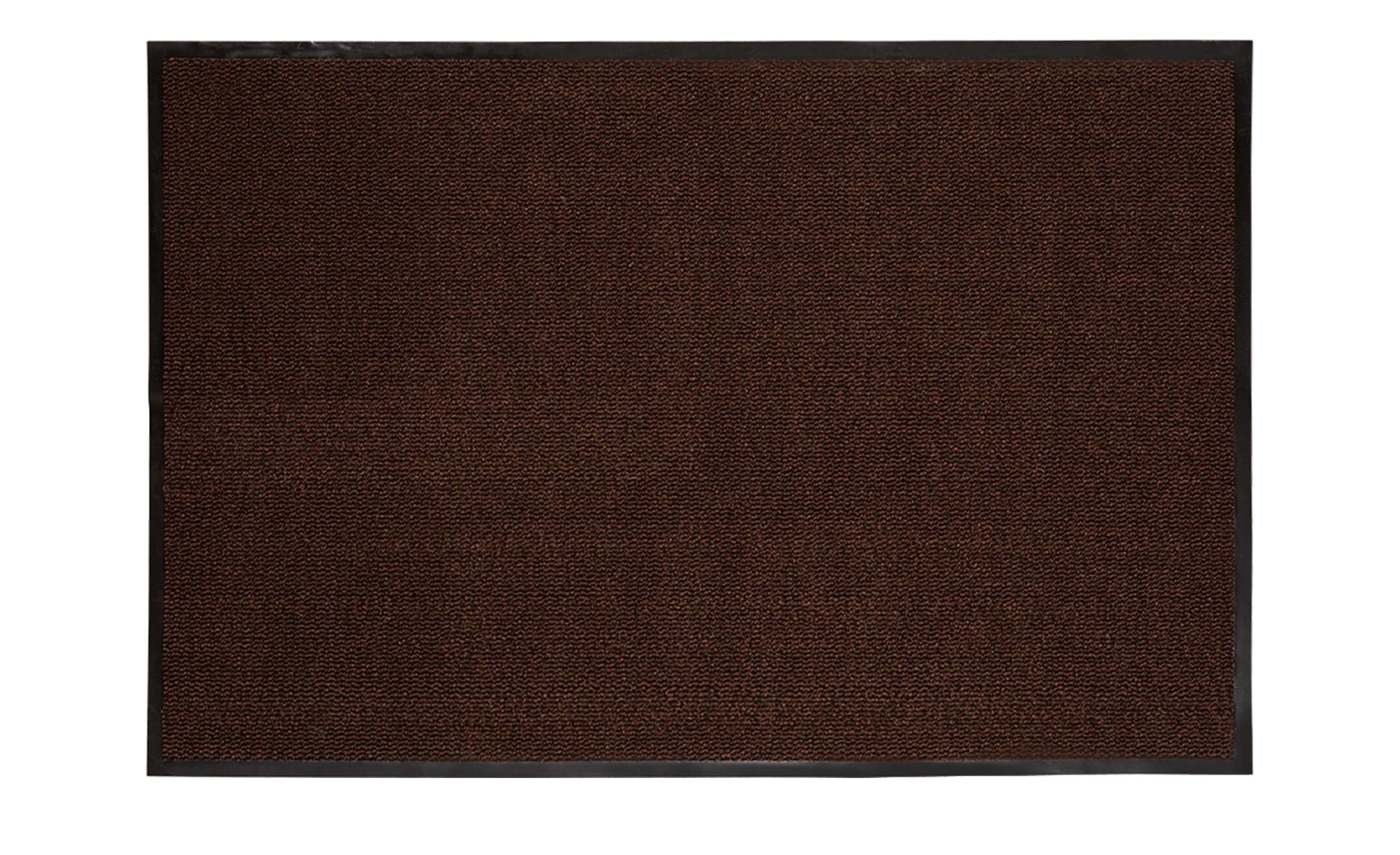 Fußmatte  Saphir ¦ braun ¦ Synthethische Fasern, 100% Polypropylen ¦ Maße (cm): B: 40 Teppiche > Fußmatten & Stufenmatten - Höffner