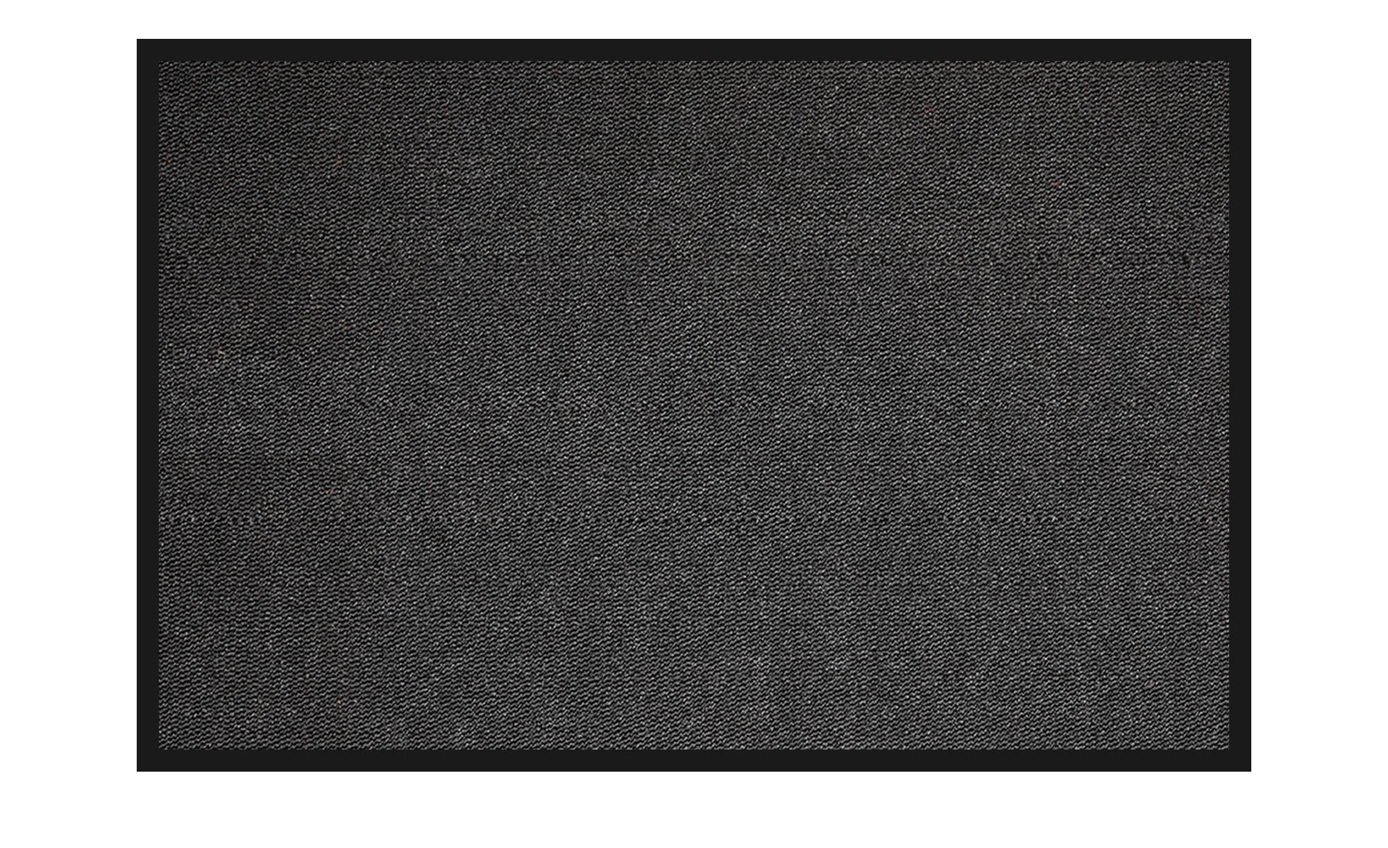 Fußmatte  Saphir ¦ schwarz ¦ Synthethische Fasern, 100% Polypropylen ¦ Maße (cm): B: 40 Teppiche > Fußmatten & Stufenmatten - Höffner