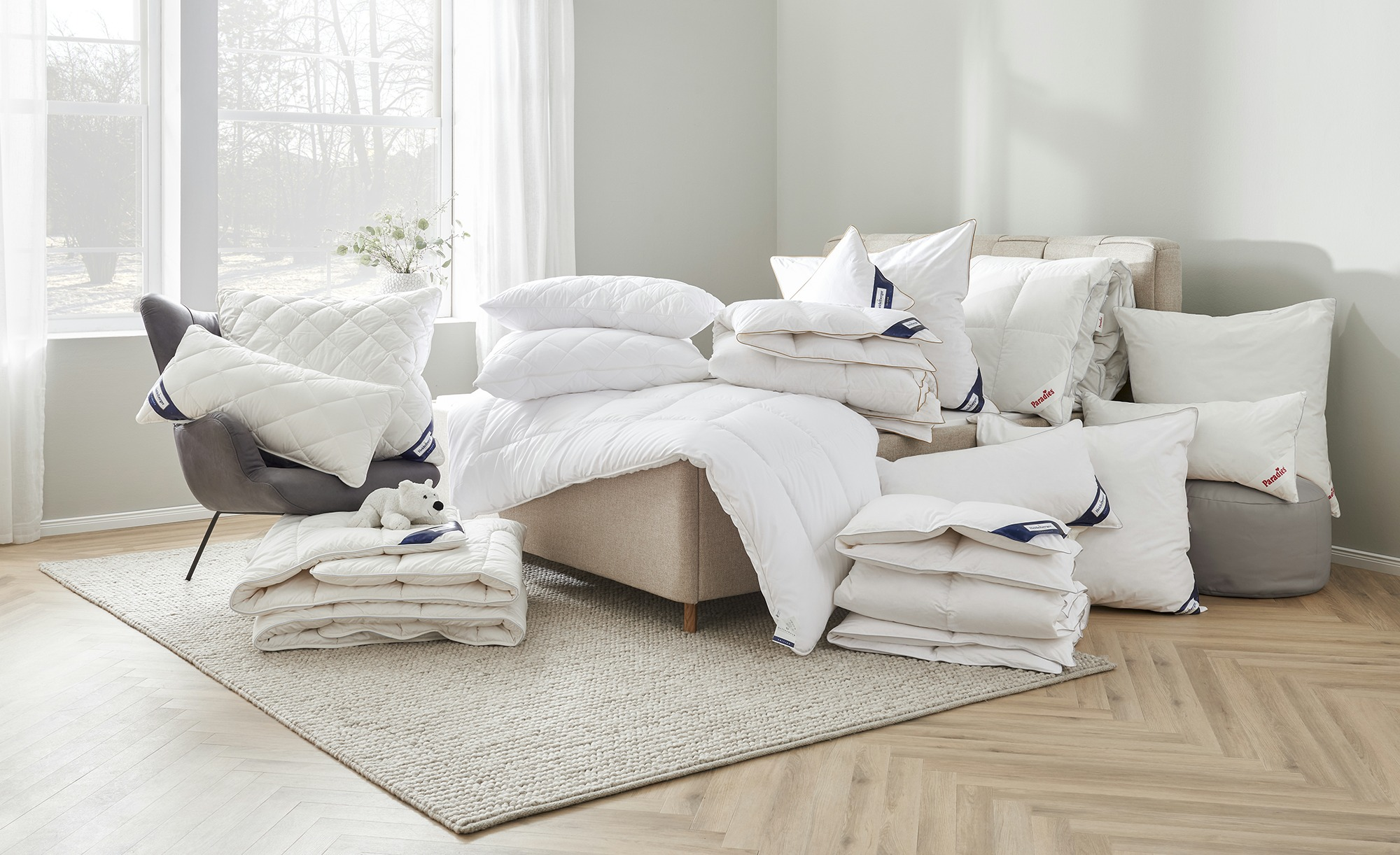 Billerbeck Kopfkissen  Granat ¦ weiß ¦ Maße (cm): B: 80 Bettwaren > Kopfkissen > Sonstige Kopfkissen - Höffner