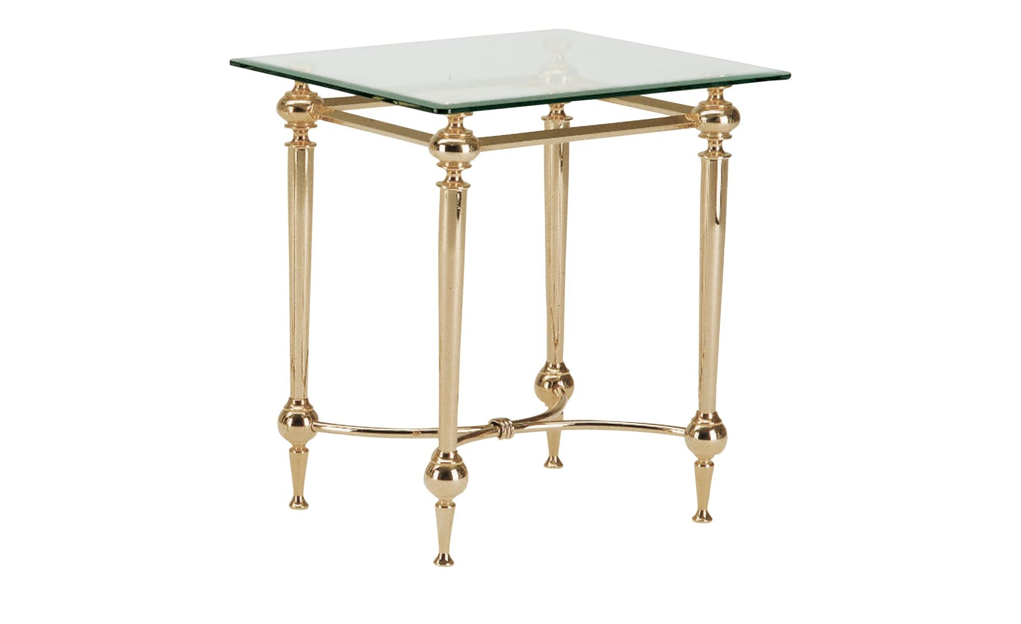 Beistelltisch   Herzogenrath ¦ gold ¦ Maße (cm): B: 43 H: 53 T: 43 Tische > Beistelltische > Beistelltische ohne Rollen - Höffner | Wohnzimmer > Tische | Möbel Höffner DE