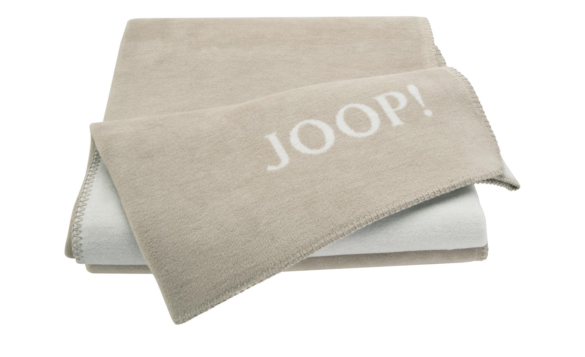 JOOP! Wohndecke-Doubleface  Joop! Uni-Doubleface ¦ beige ¦ 58% Baumwolle 35% Polyacryl, 7% Polyester ¦ Maße (cm): B: 150 Heimtextilien > Kuscheldecken - Höffner