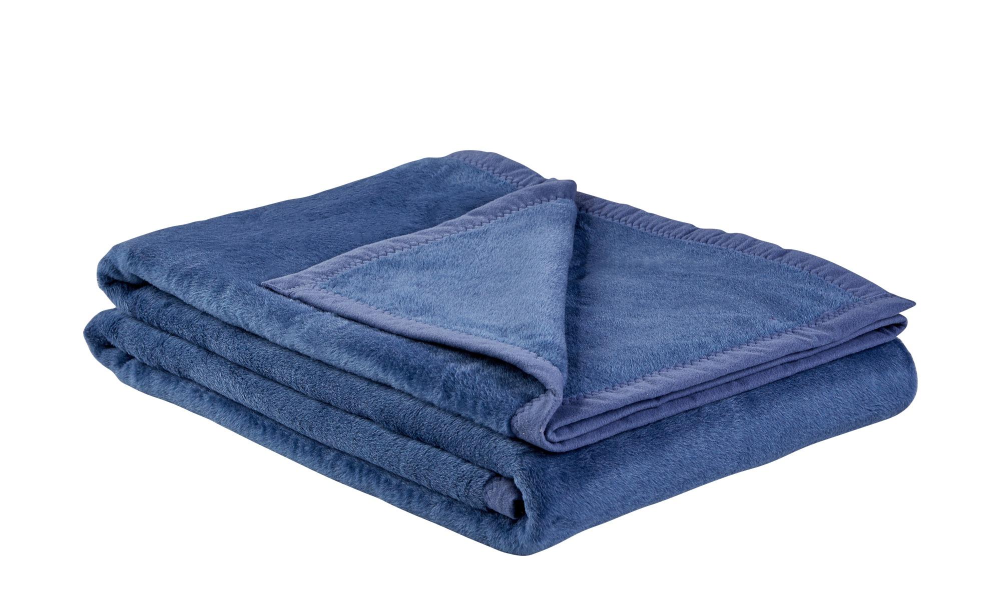 LAVIDA Wohndecke  Catharina ¦ blau ¦ 60% Baumwolle, 40% Polyacryl ¦ Maße (cm): B: 150 Heimtextilien > Kuscheldecken - Höffner