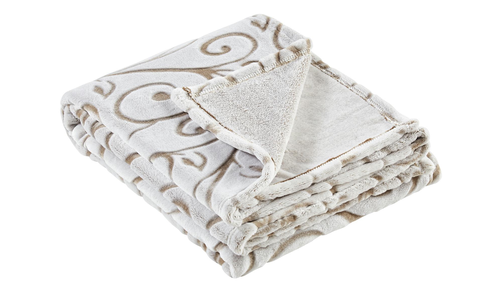 Flausch-Decke  Marina ¦ creme ¦ 100% Polyester ¦ Maße (cm): B: 130 Heimtextilien > Kuscheldecken - Höffner