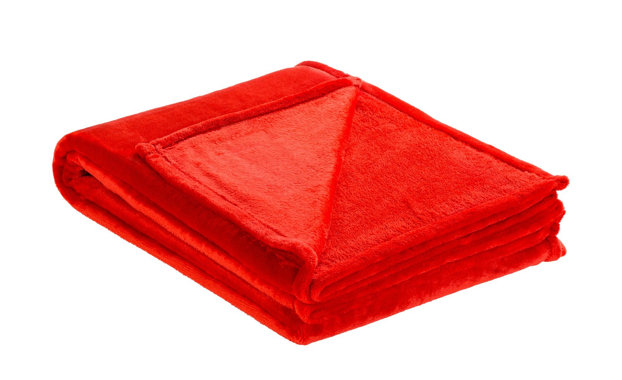 LAVIDA Soft Flauschdecke  Mirabelle ¦ rot ¦ 100% Polyester ¦ Maße (cm): B: 150 Heimtextilien > Kuscheldecken - Höffner
