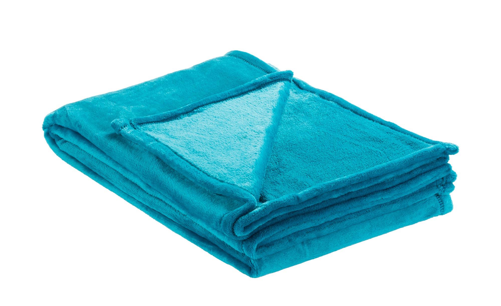 LAVIDA Soft Flauschdecke  Mirabelle ¦ blau ¦ 100% Polyester ¦ Maße (cm): B: 150 Heimtextilien > Kuscheldecken - Höffner