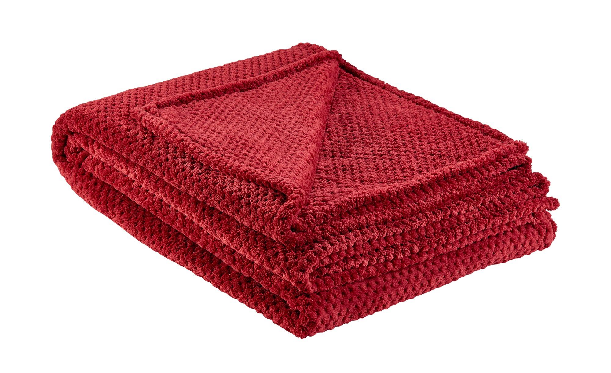 for friends Coralfleecedecke  Mia ¦ rot ¦ 100% Polyester ¦ Maße (cm): B: 150 Heimtextilien > Kuscheldecken - Höffner