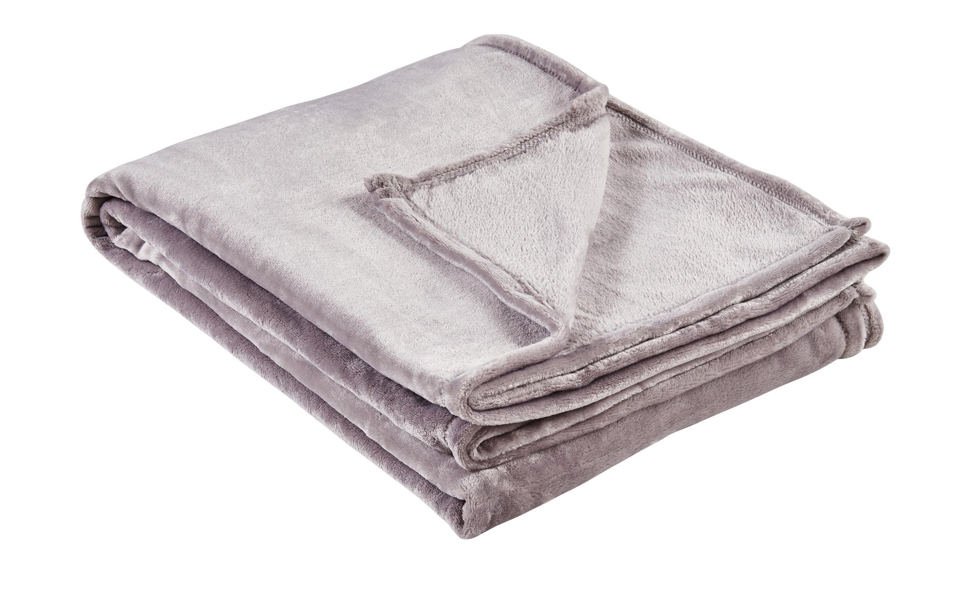 LAVIDA Soft-Flauschdecke  Mirabelle ¦ grau ¦ 100% Polyester ¦ Maße (cm): B: 150 Heimtextilien > Kuscheldecken - Höffner