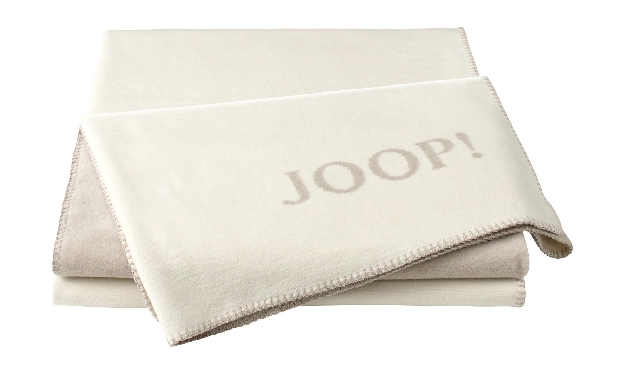 JOOP! Wohndecke  Joop! Uni-Doubleface ¦ beige ¦ 58% Baumwolle 35% Polyacryl, 7% Polyester ¦ Maße (cm): B: 150 Heimtextilien > Kuscheldecken - Höffner