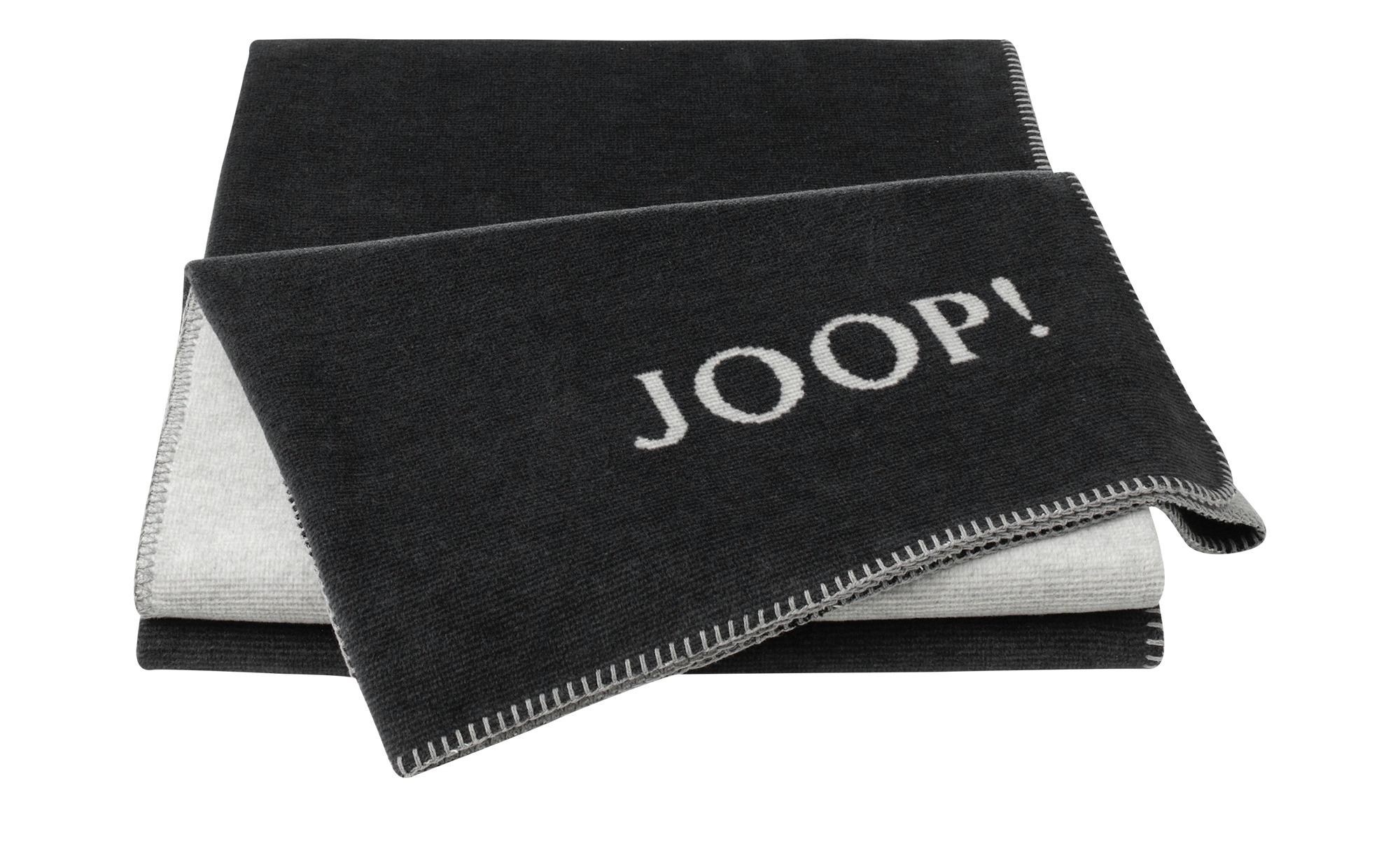 JOOP! Wohndecke  JOOP! Melange-Doubleface ¦ grau ¦ 58% Baumwolle, 35% Polyacryl, 7% Polyester  ¦ Maße (cm): B: 150 Heimtextilien > Kuscheldecken - Höffner