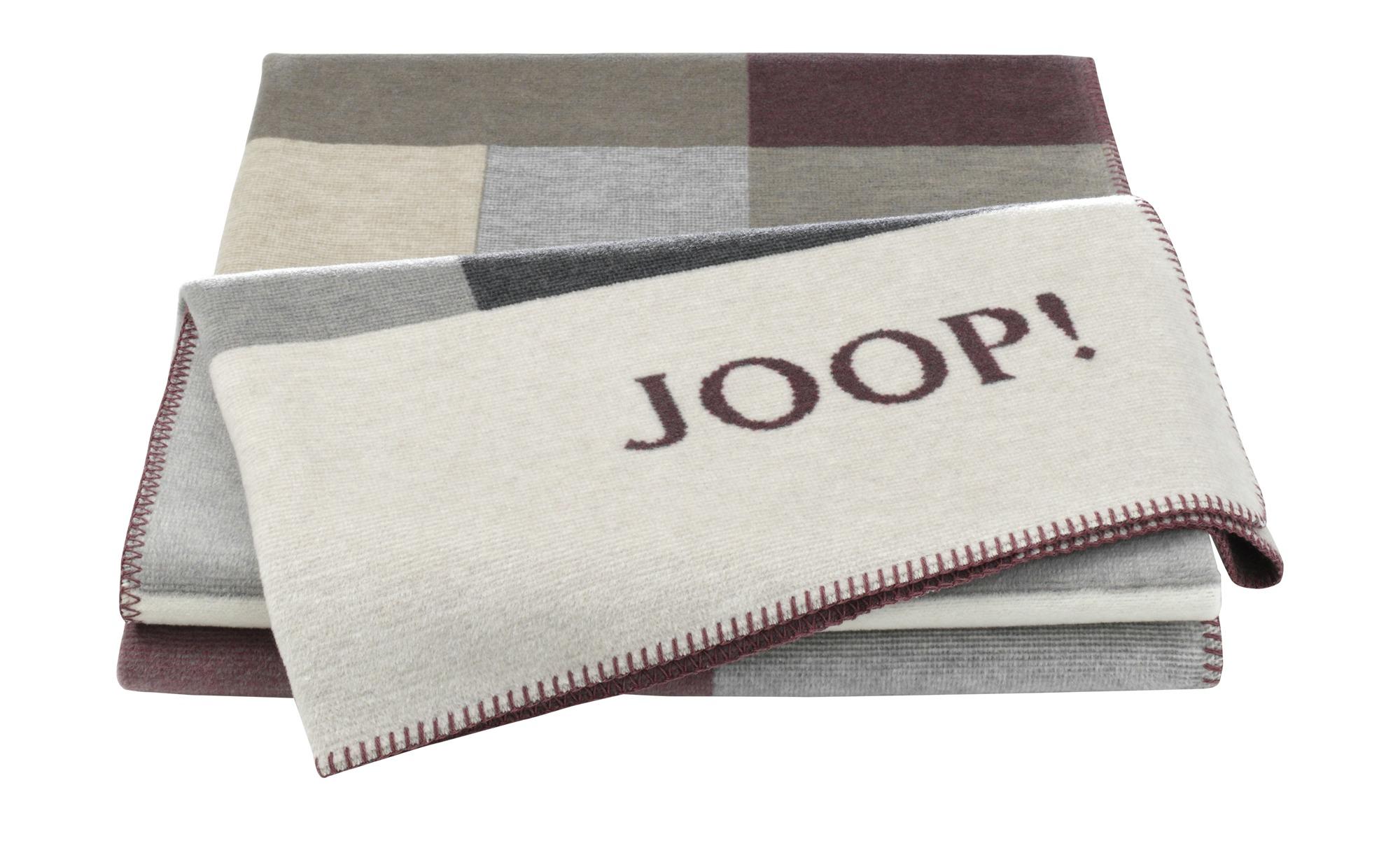 JOOP! Wohndecke  JOOP! Bold ¦ rot ¦ 58% Baumwolle, 35% Polyacryl, 7% Polyester ¦ Maße (cm): B: 150 Heimtextilien > Kuscheldecken - Höffner