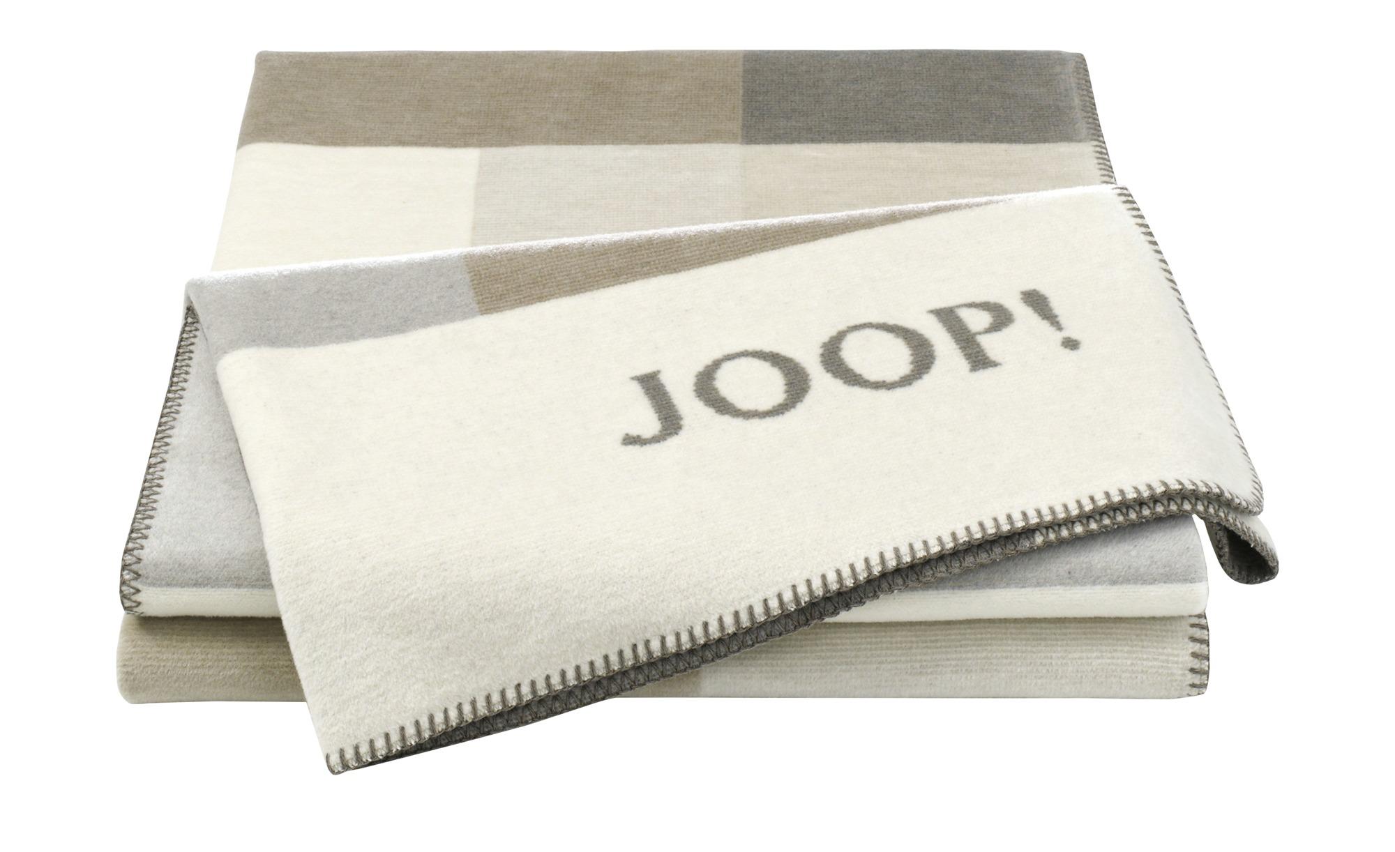 JOOP! Wohndecke  JOOP! Bold ¦ beige ¦ 58% Baumwolle, 35% Polyacryl, 7% Polyester ¦ Maße (cm): B: 150 Heimtextilien > Kuscheldecken - Höffner