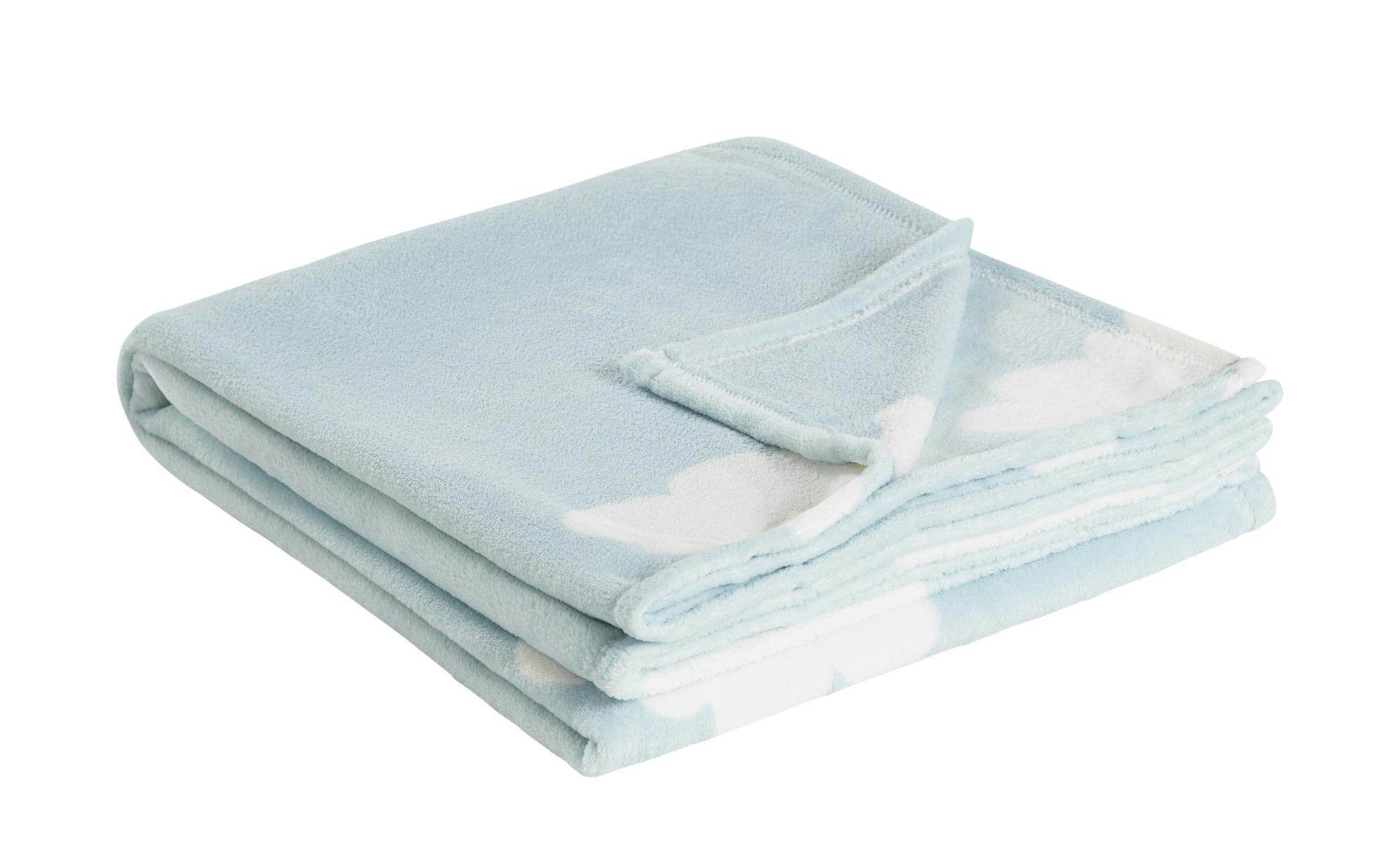 HOME STORY Coralfleecedecke  Wolken ¦ blau ¦ 100% Polyester ¦ Maße (cm): B: 150 Heimtextilien > Kuscheldecken - Höffner