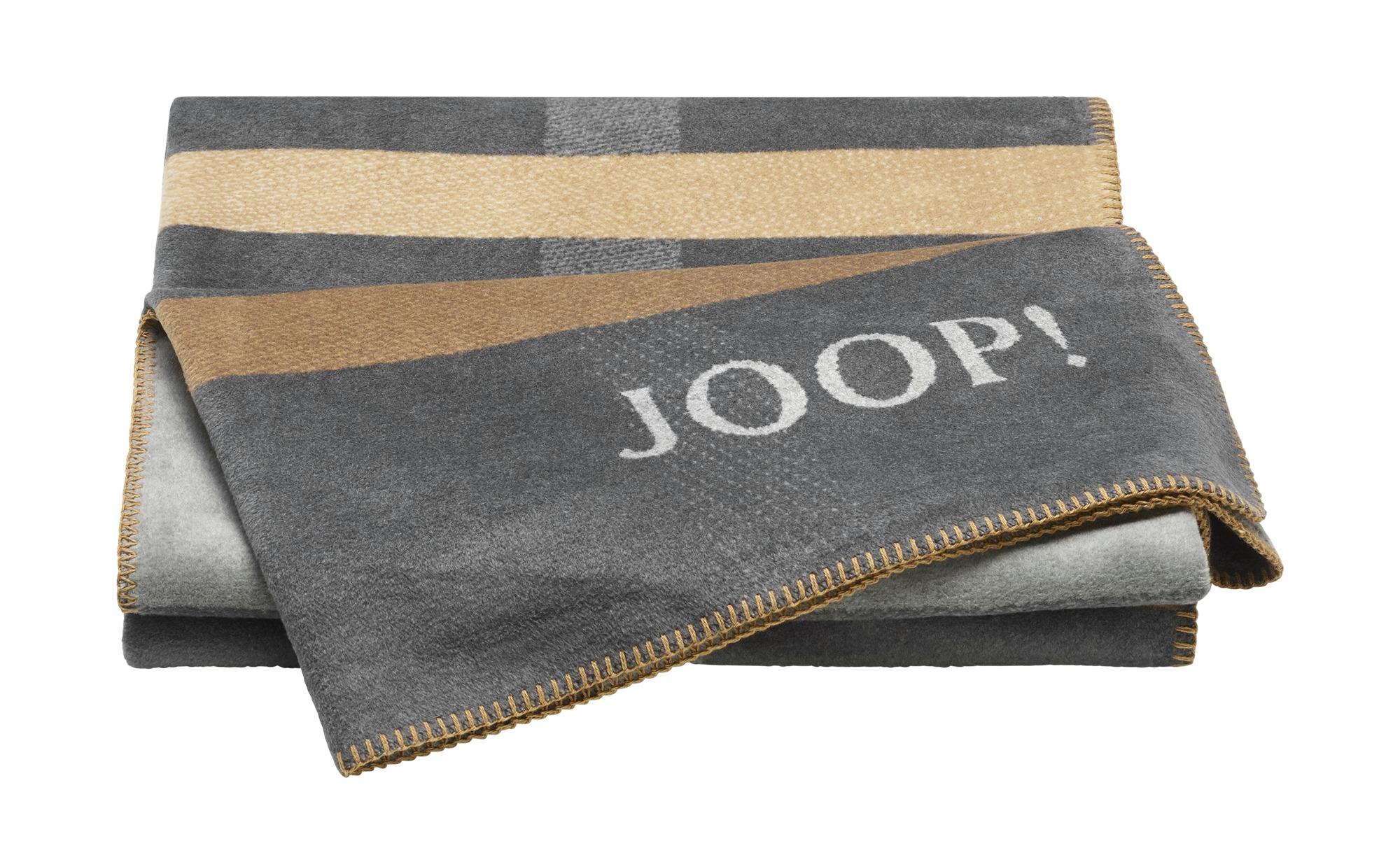JOOP! Wohndecke  JOOP! Square ¦ grau ¦ 58% Baumwolle, 35% Polyacrylnitril (Dralon), 7% Polyester  ¦ Maße (cm): B: 150 Heimtextilien > Kuscheldecken - Höffner