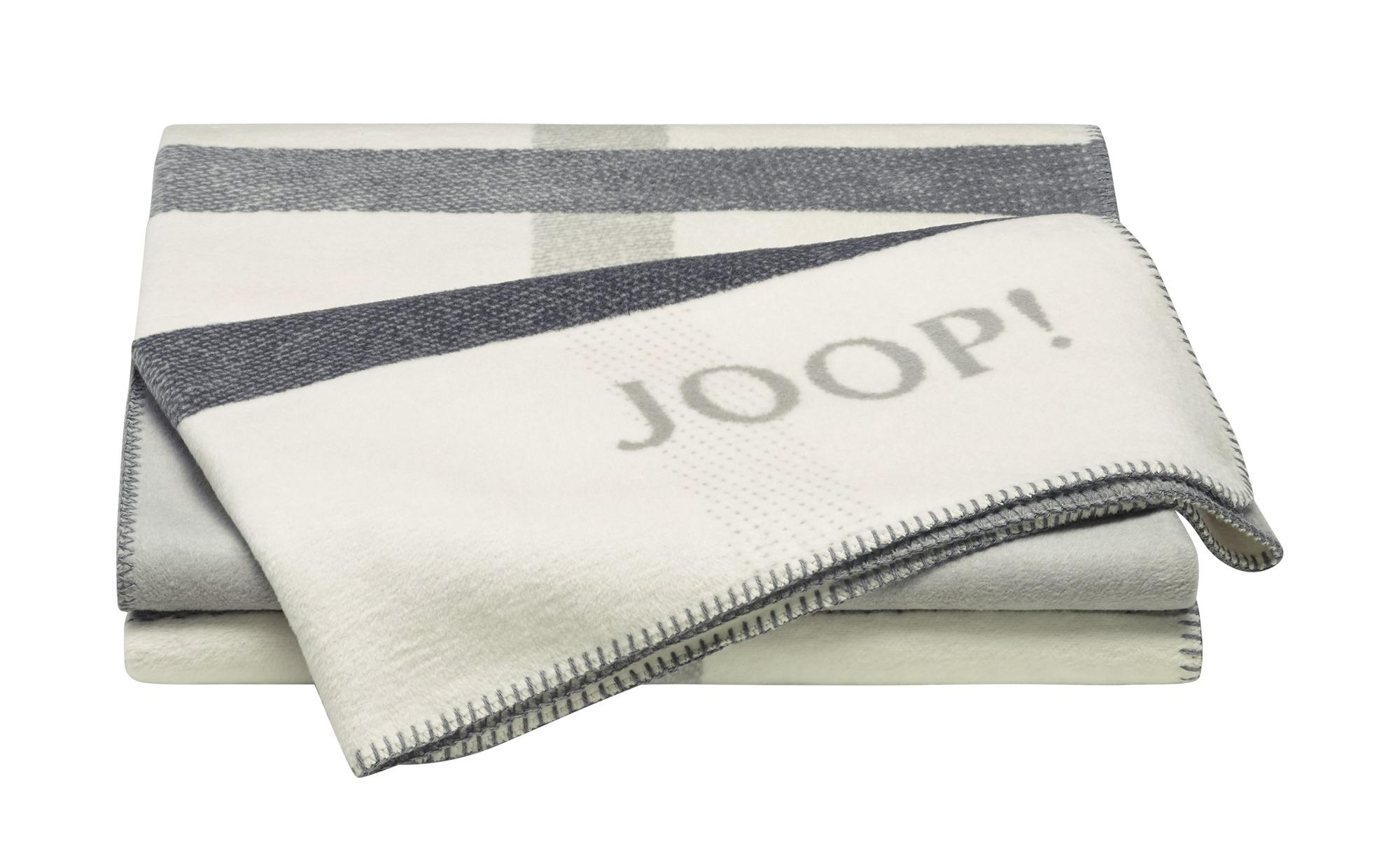 JOOP! Wohndecke  JOOP! Square ¦ beige ¦ 58% Baumwolle, 35% Polyacrylnitril (Dralon), 7% Polyester  ¦ Maße (cm): B: 150 Heimtextilien > Kuscheldecken - Höffner