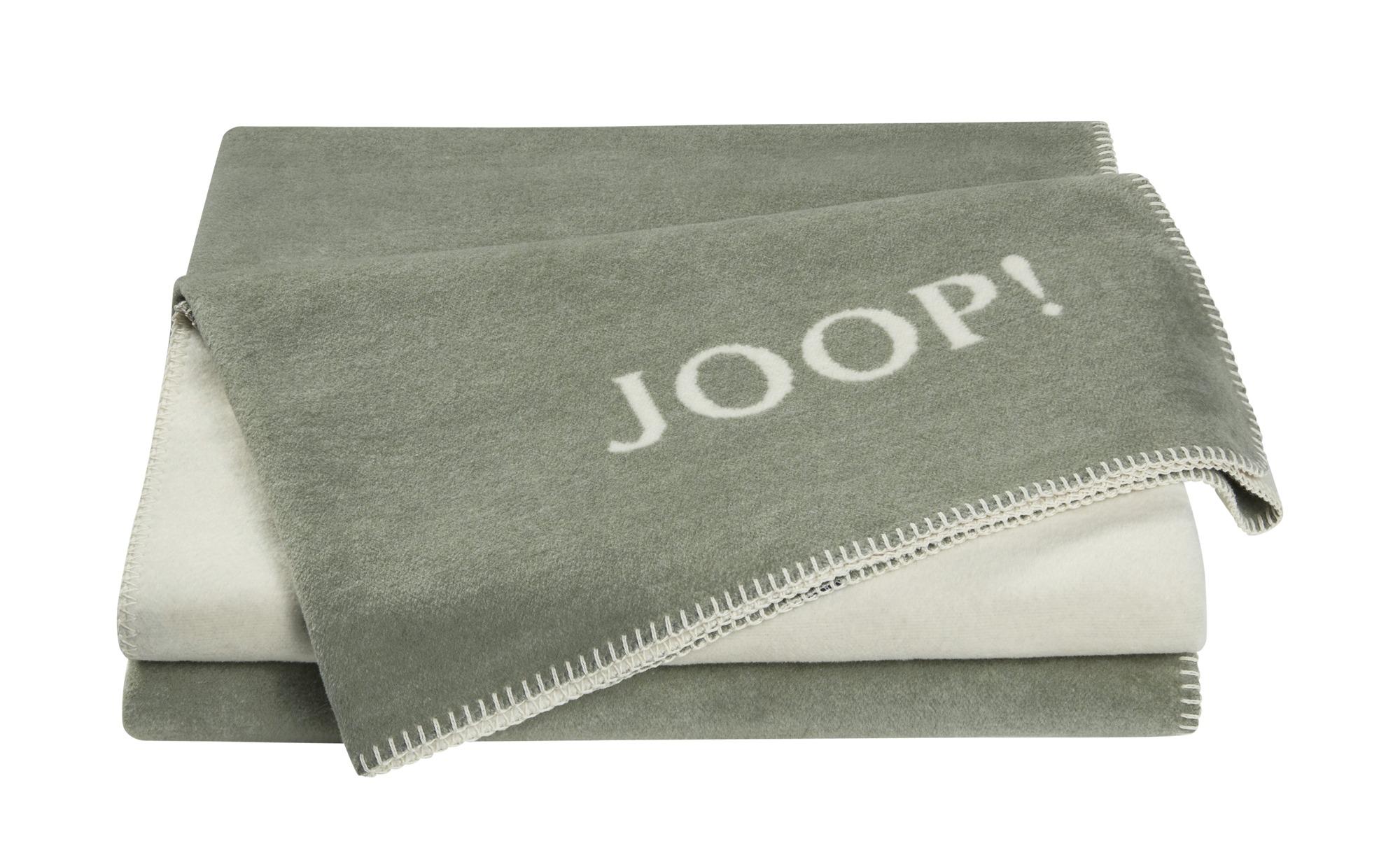 Joop Wohndecke Joop Uni Doubleface Grun 58 Baumwolle 35 Polyacryl 7 Polyester Masse Cm B 150 Heimtextilien Kuscheldecken